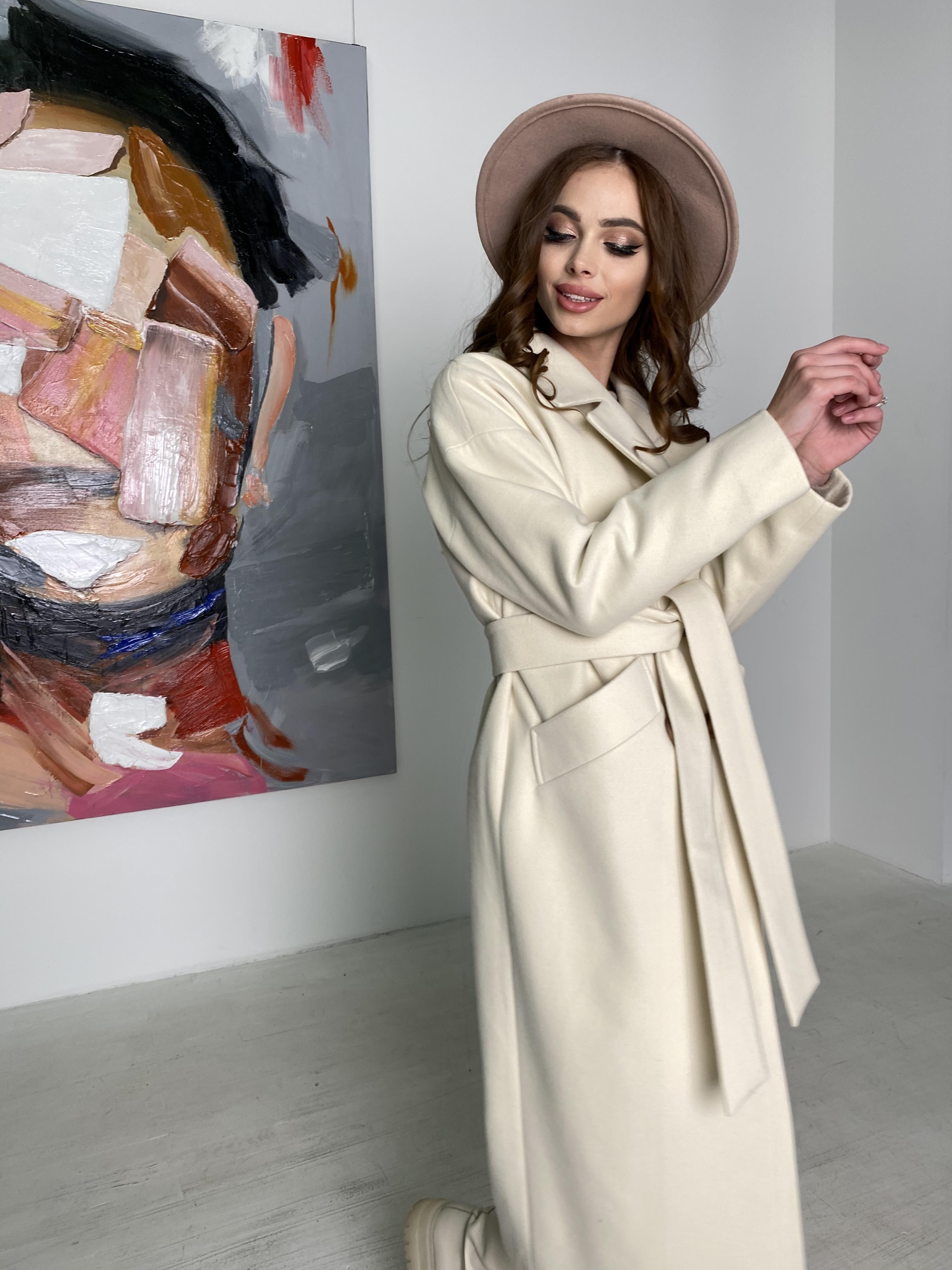 Сенсей пальто макси из кашемира   10309 АРТ. 46615 Цвет: молоко - фото 6, интернет магазин tm-modus.ru
