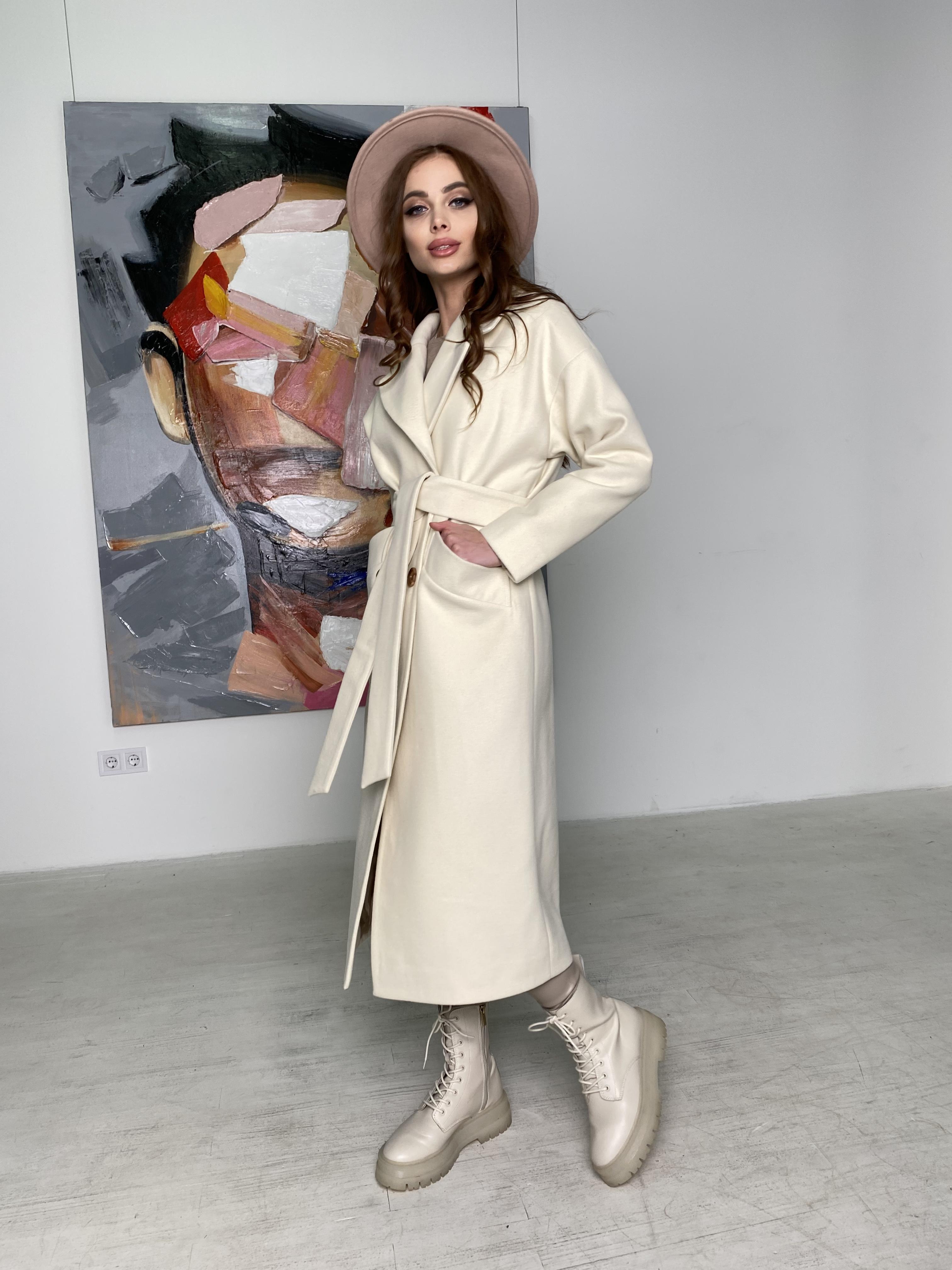 Сенсей пальто макси из кашемира   10309 АРТ. 46615 Цвет: молоко - фото 7, интернет магазин tm-modus.ru