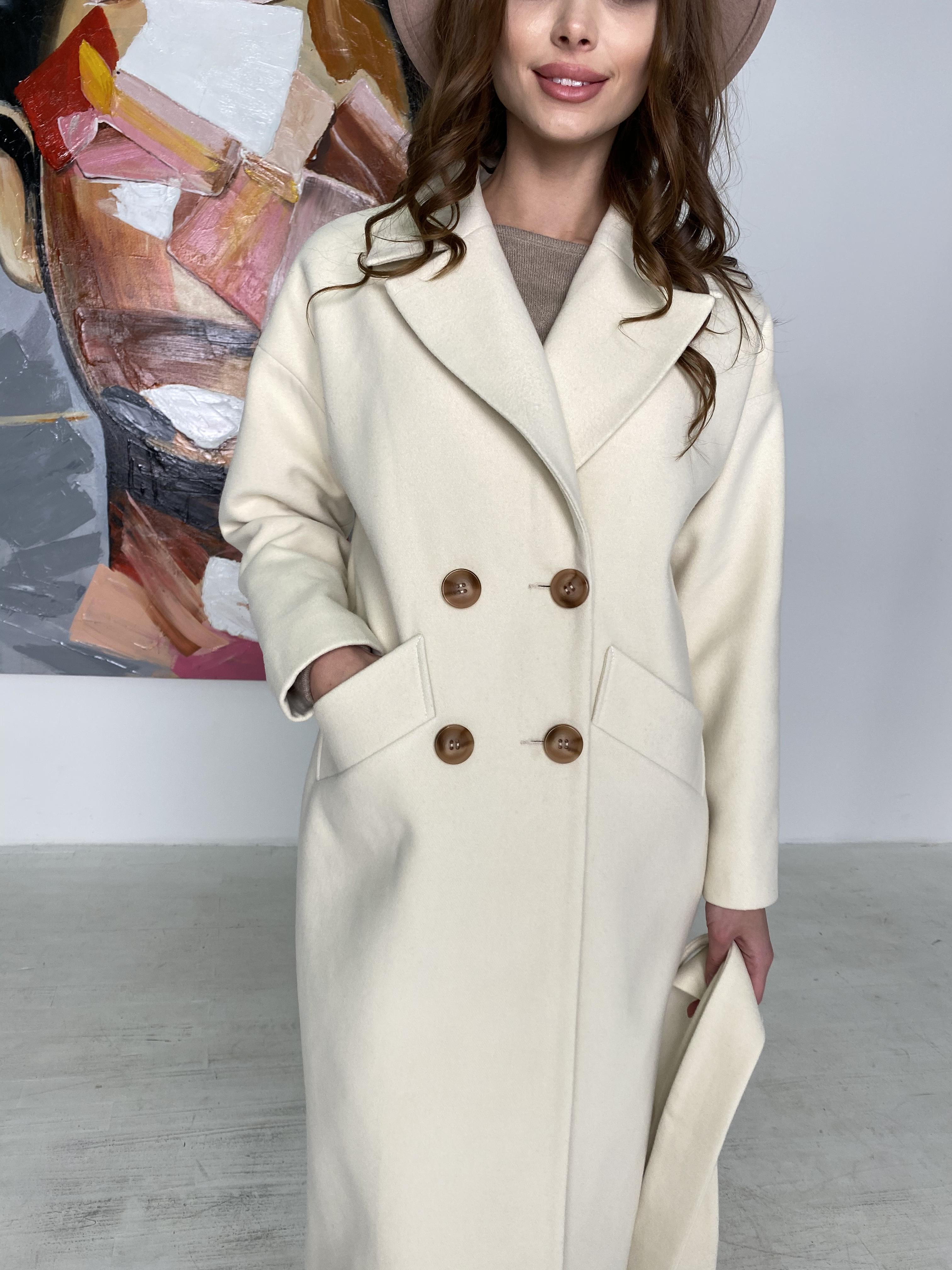 Сенсей пальто макси из кашемира   10309 АРТ. 46615 Цвет: молоко - фото 8, интернет магазин tm-modus.ru