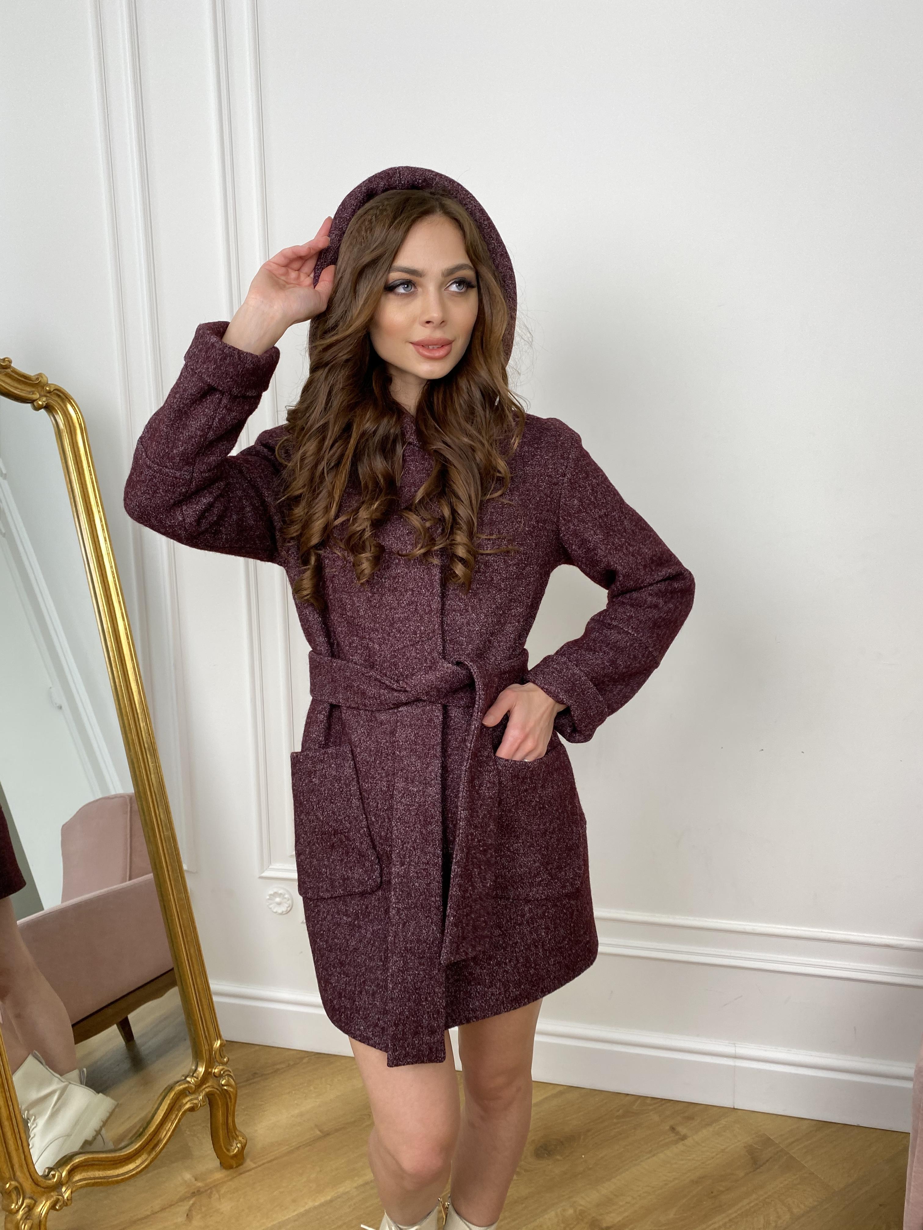 Пальто Анита 9934 АРТ. 46220 Цвет: марсала - фото 2, интернет магазин tm-modus.ru
