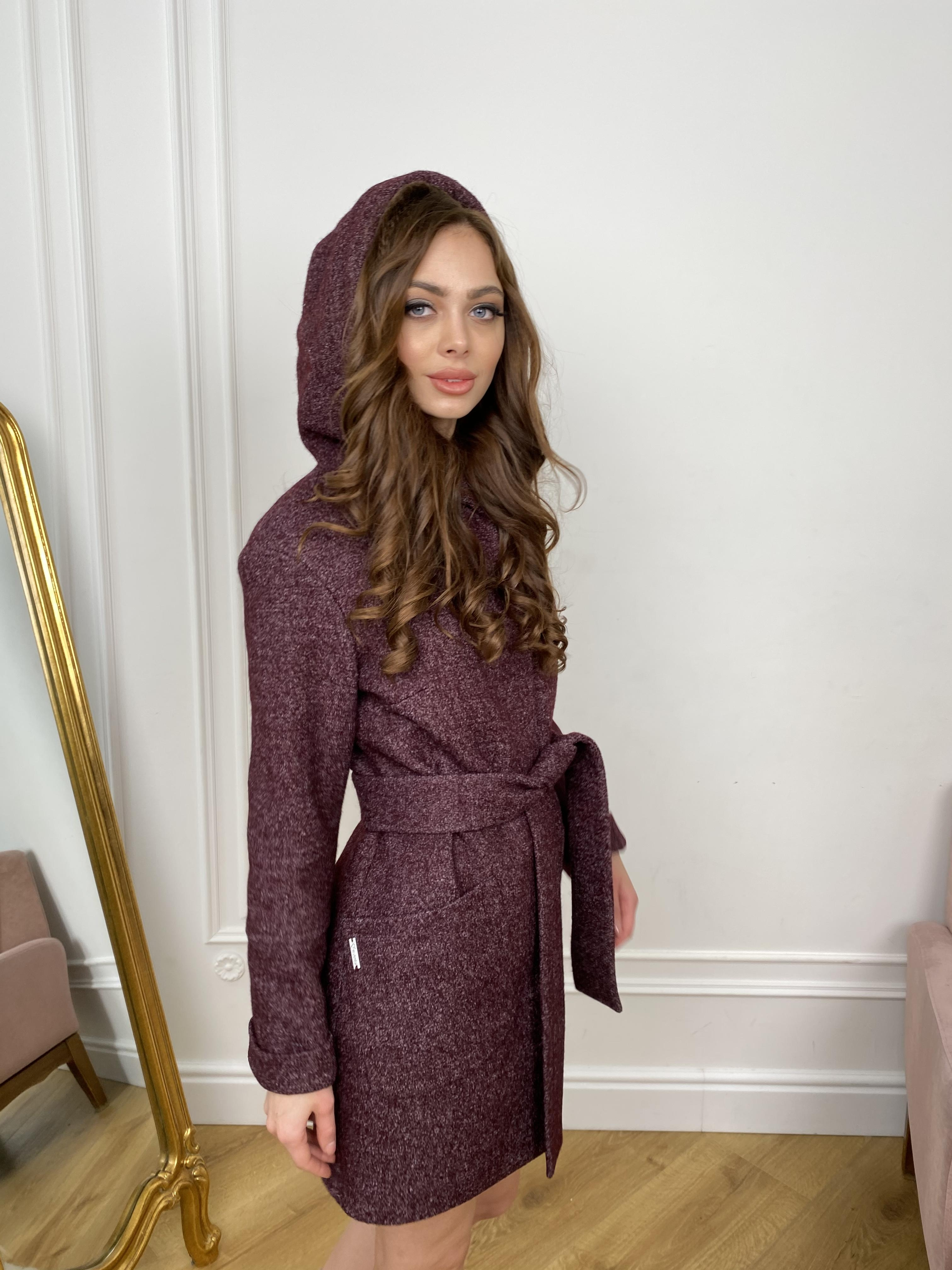 Пальто Анита 9934 АРТ. 46220 Цвет: марсала - фото 3, интернет магазин tm-modus.ru