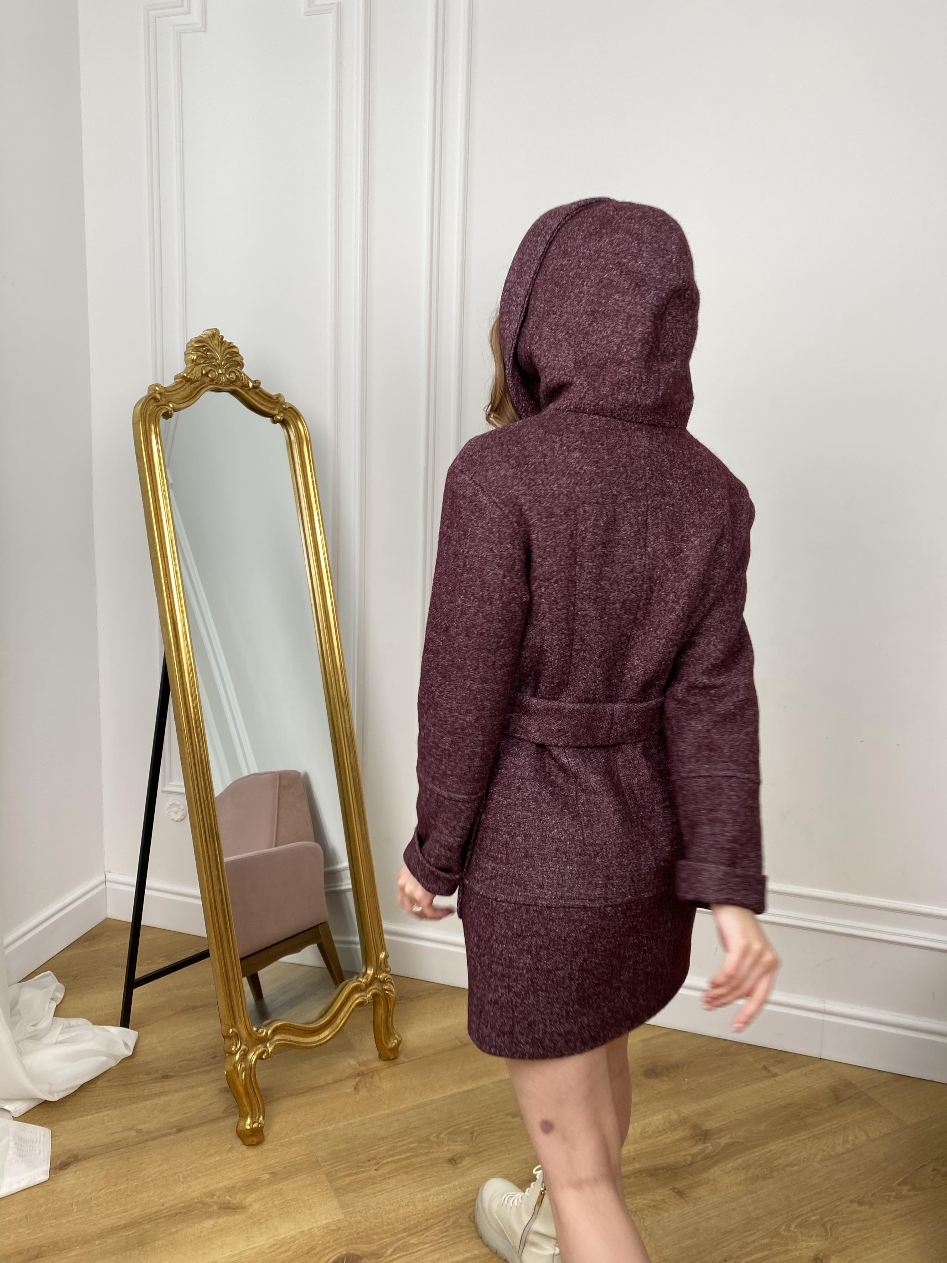 Пальто Анита 9934 АРТ. 46220 Цвет: марсала - фото 4, интернет магазин tm-modus.ru