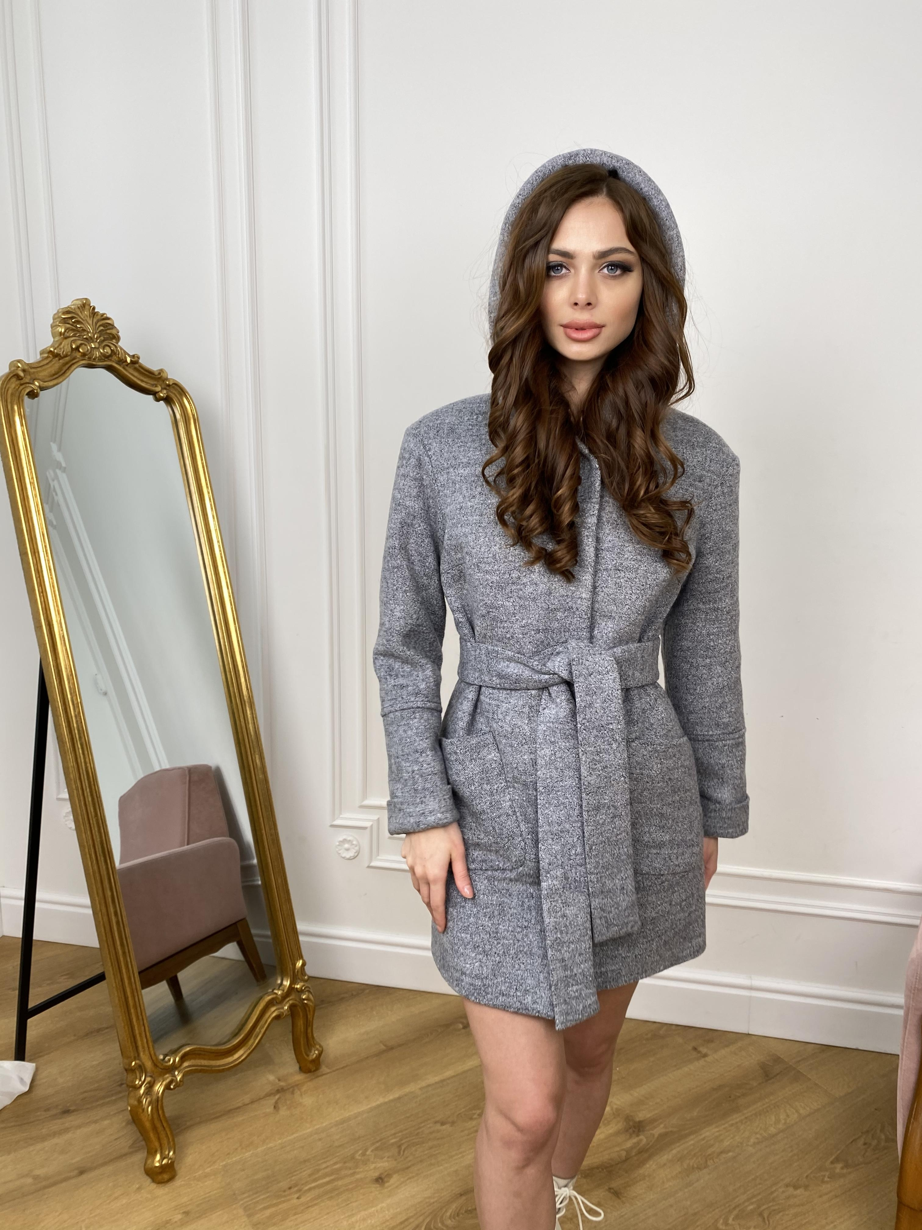 Пальто Анита 9934 АРТ. 46219 Цвет: Серый 48 - фото 2, интернет магазин tm-modus.ru