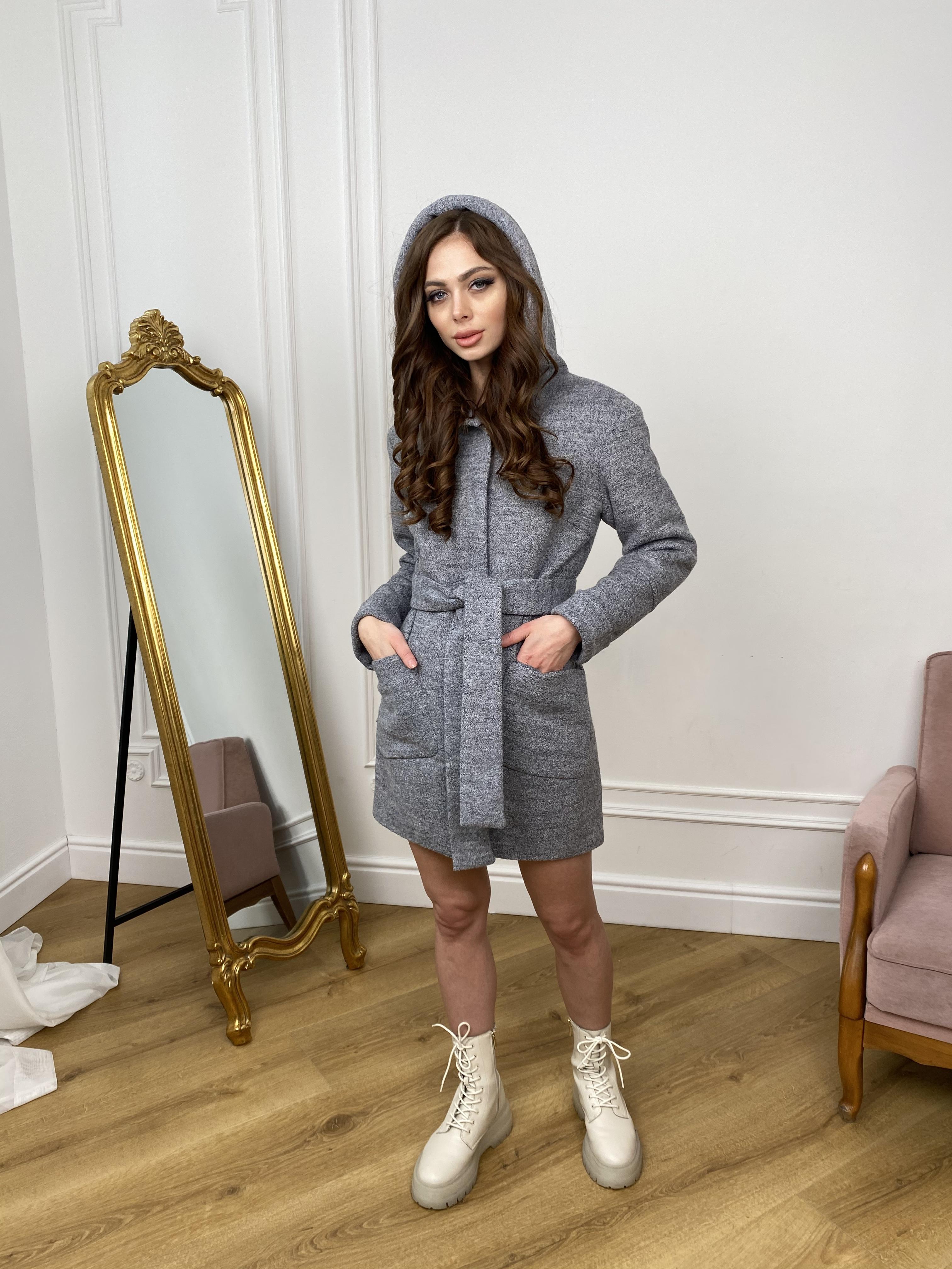 Пальто Анита 9934 АРТ. 46219 Цвет: Серый 48 - фото 3, интернет магазин tm-modus.ru