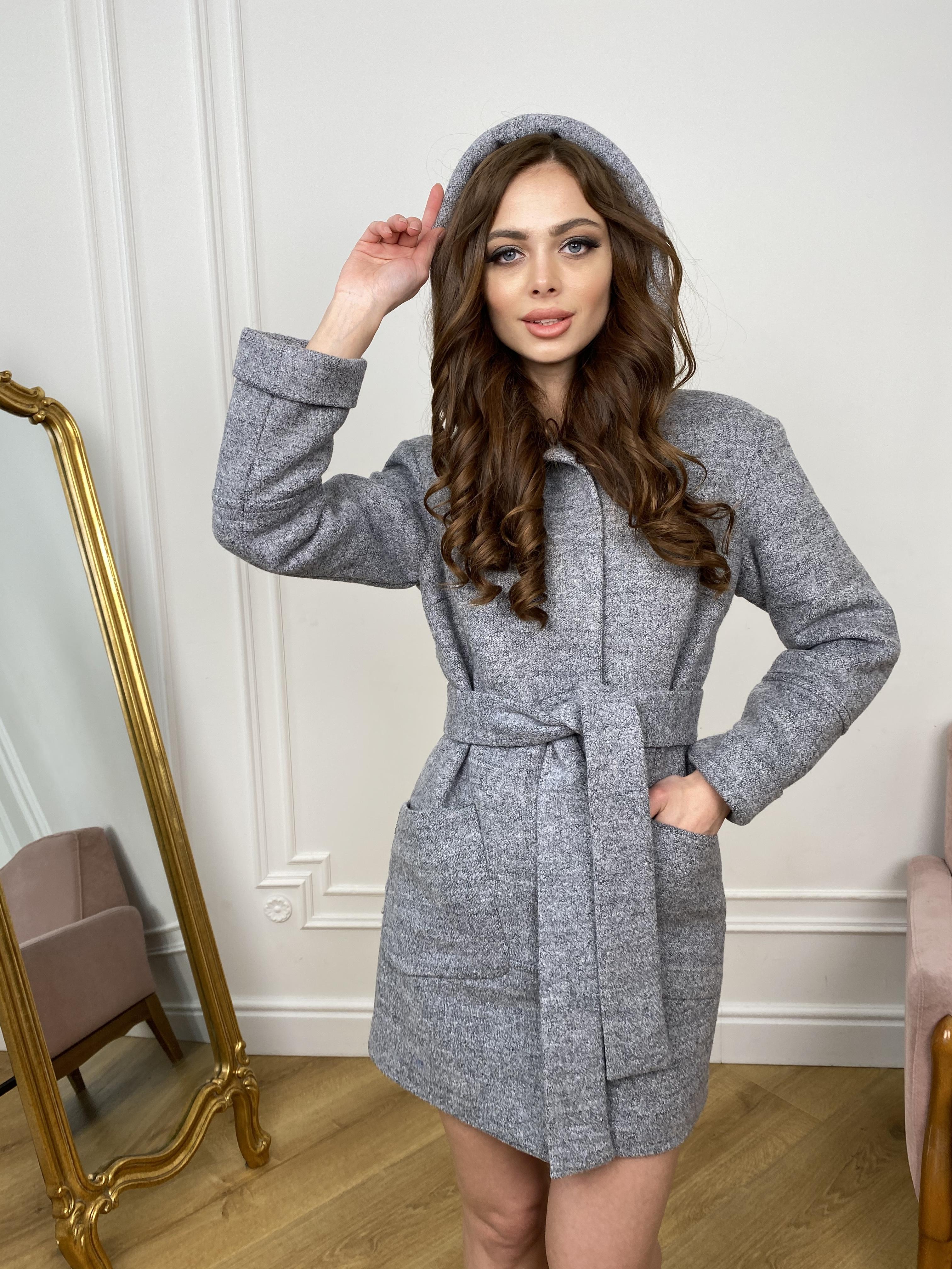 Пальто Анита 9934 АРТ. 46219 Цвет: Серый 48 - фото 4, интернет магазин tm-modus.ru