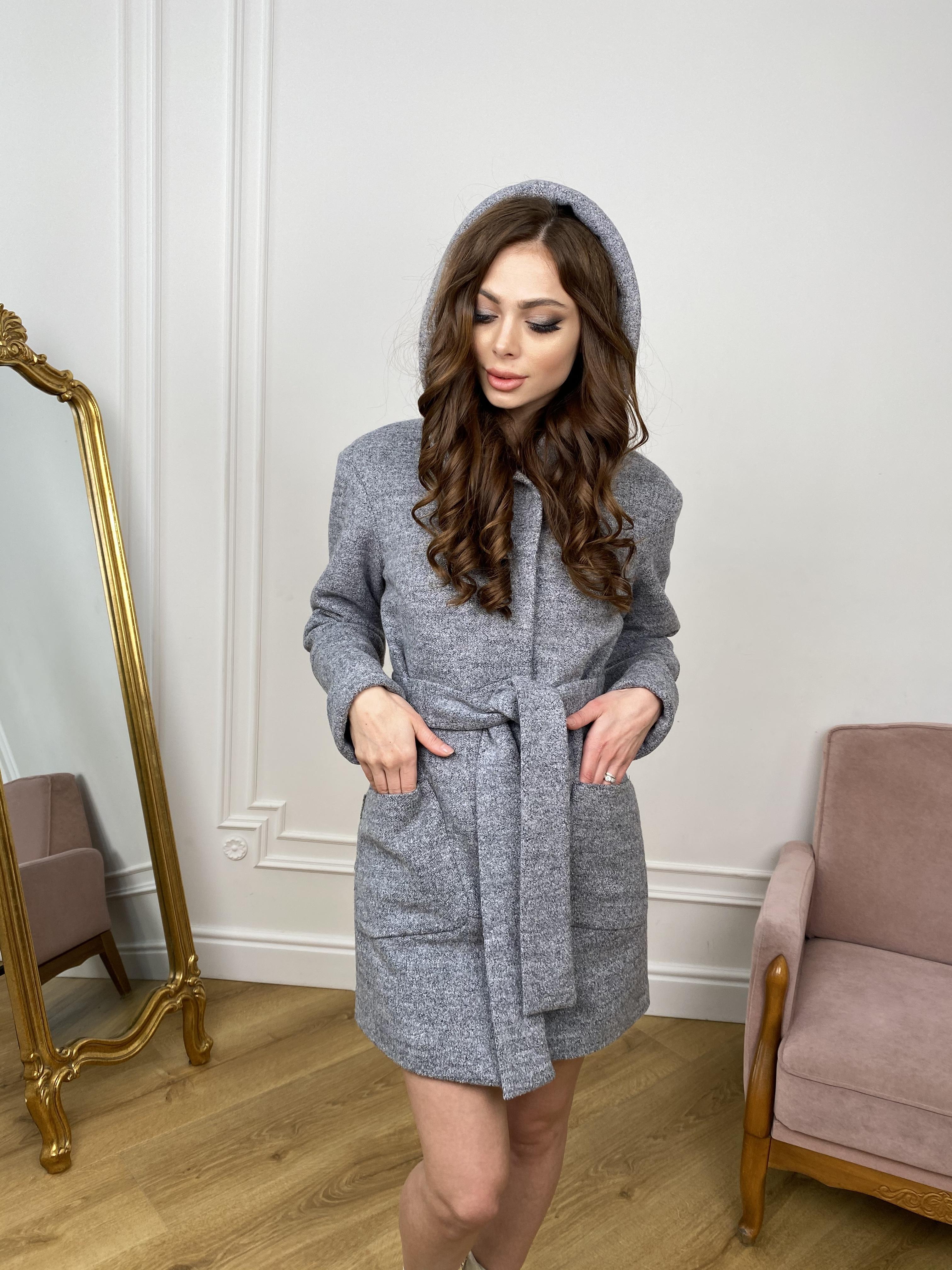 Пальто Анита 9934 АРТ. 46219 Цвет: Серый 48 - фото 5, интернет магазин tm-modus.ru