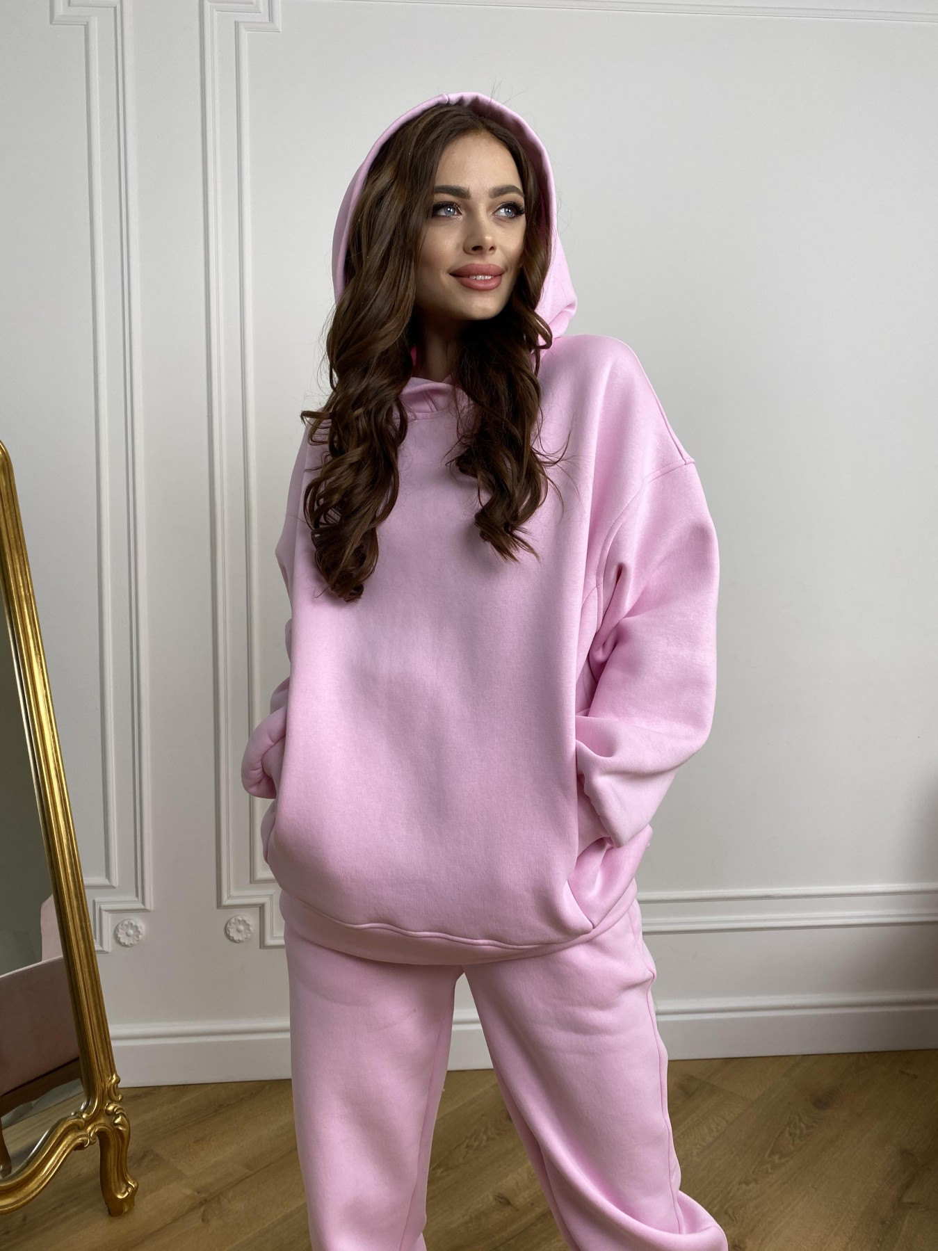 Марион костюм в  стиле Oversize  3х нитка 9651 АРТ. 46922 Цвет: Розовый - фото 2, интернет магазин tm-modus.ru