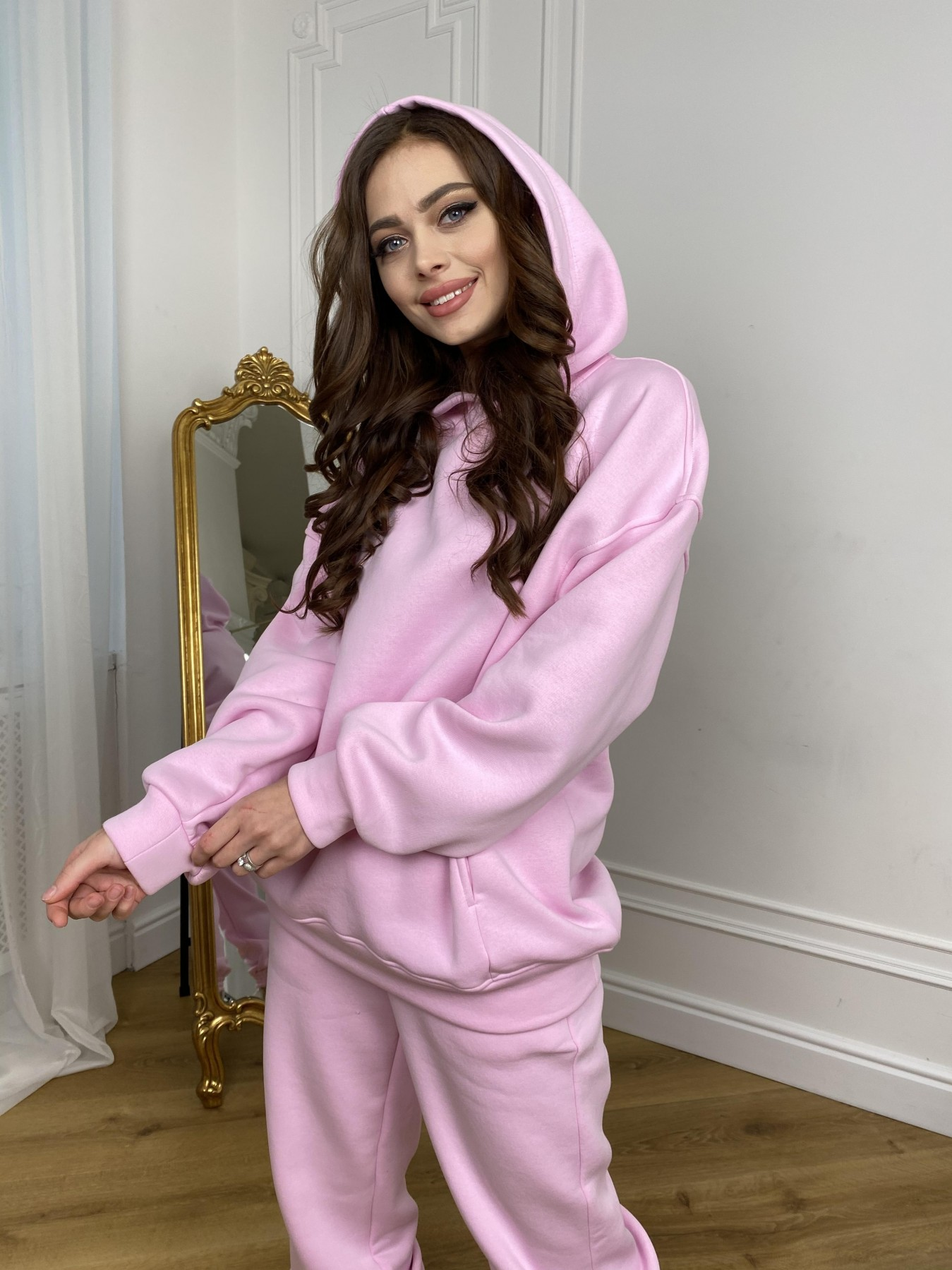 Марион костюм в  стиле Oversize  3х нитка 9651 АРТ. 46922 Цвет: Розовый - фото 6, интернет магазин tm-modus.ru
