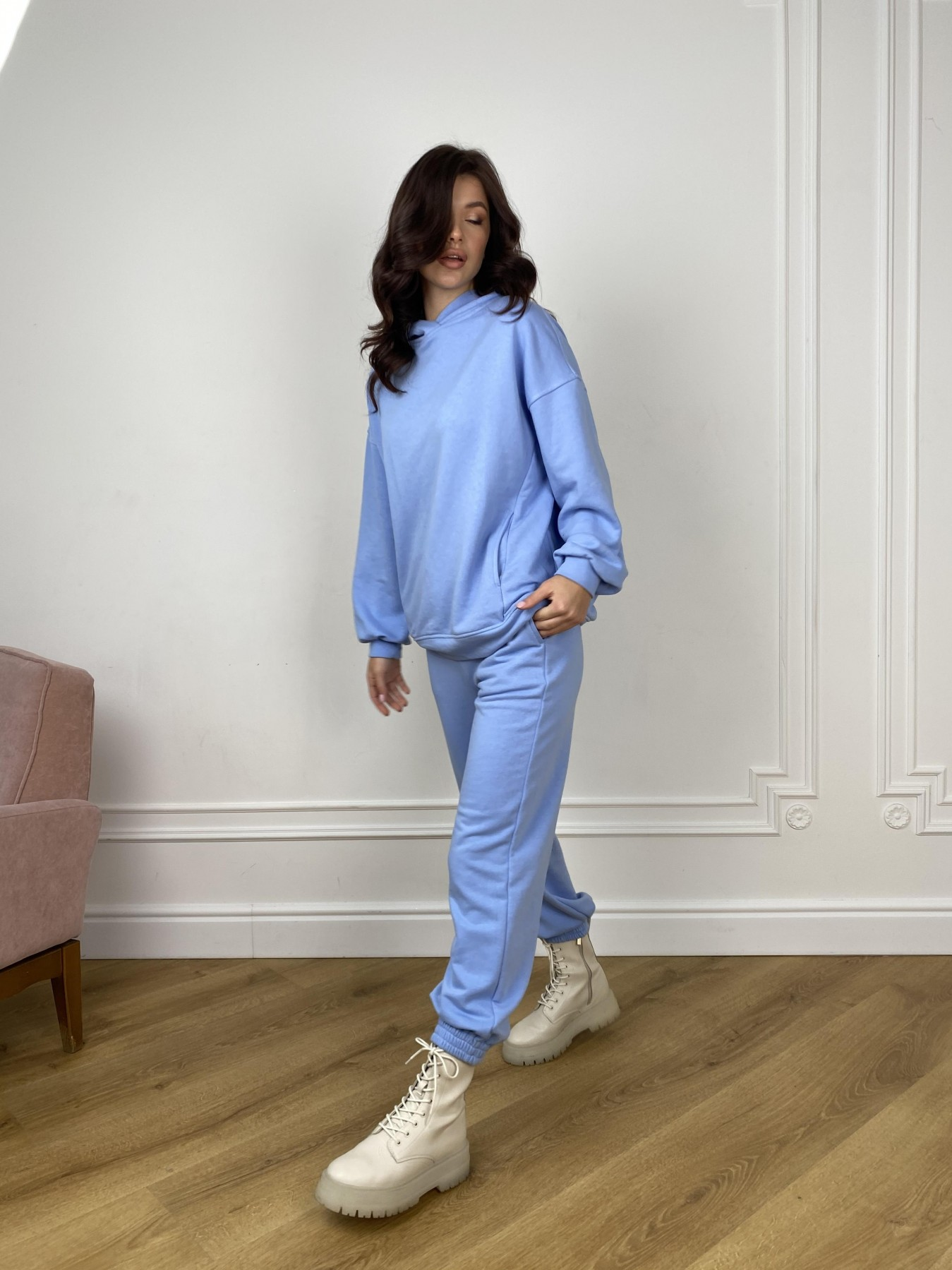 Марион костюм из 3х нитки 10581 АРТ. 46937 Цвет: Голубой - фото 3, интернет магазин tm-modus.ru