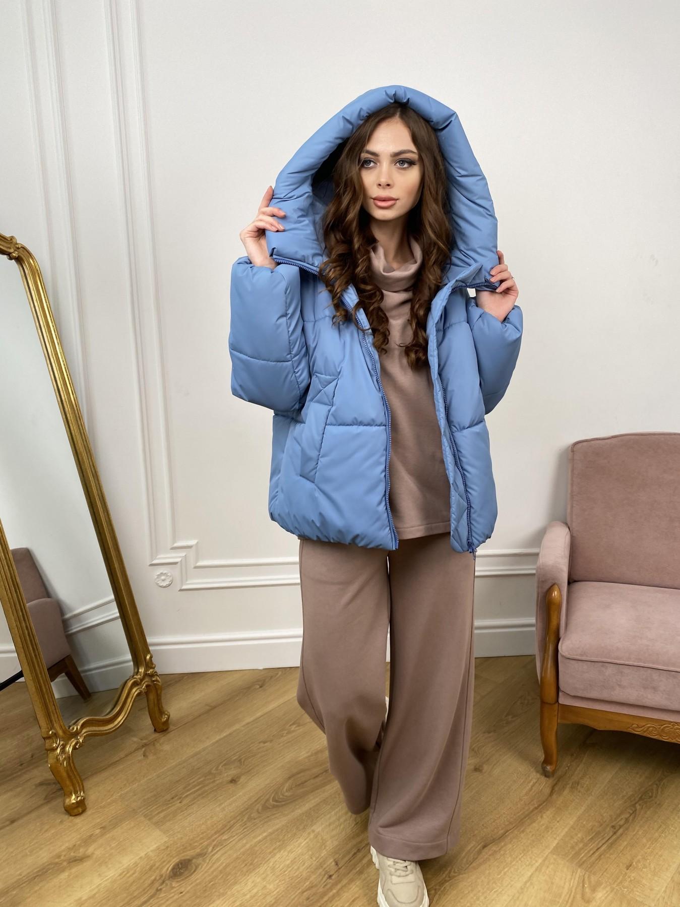 Нокс куртка из плащевой ткани 10535 АРТ. 46971 Цвет: Джинс - фото 1, интернет магазин tm-modus.ru