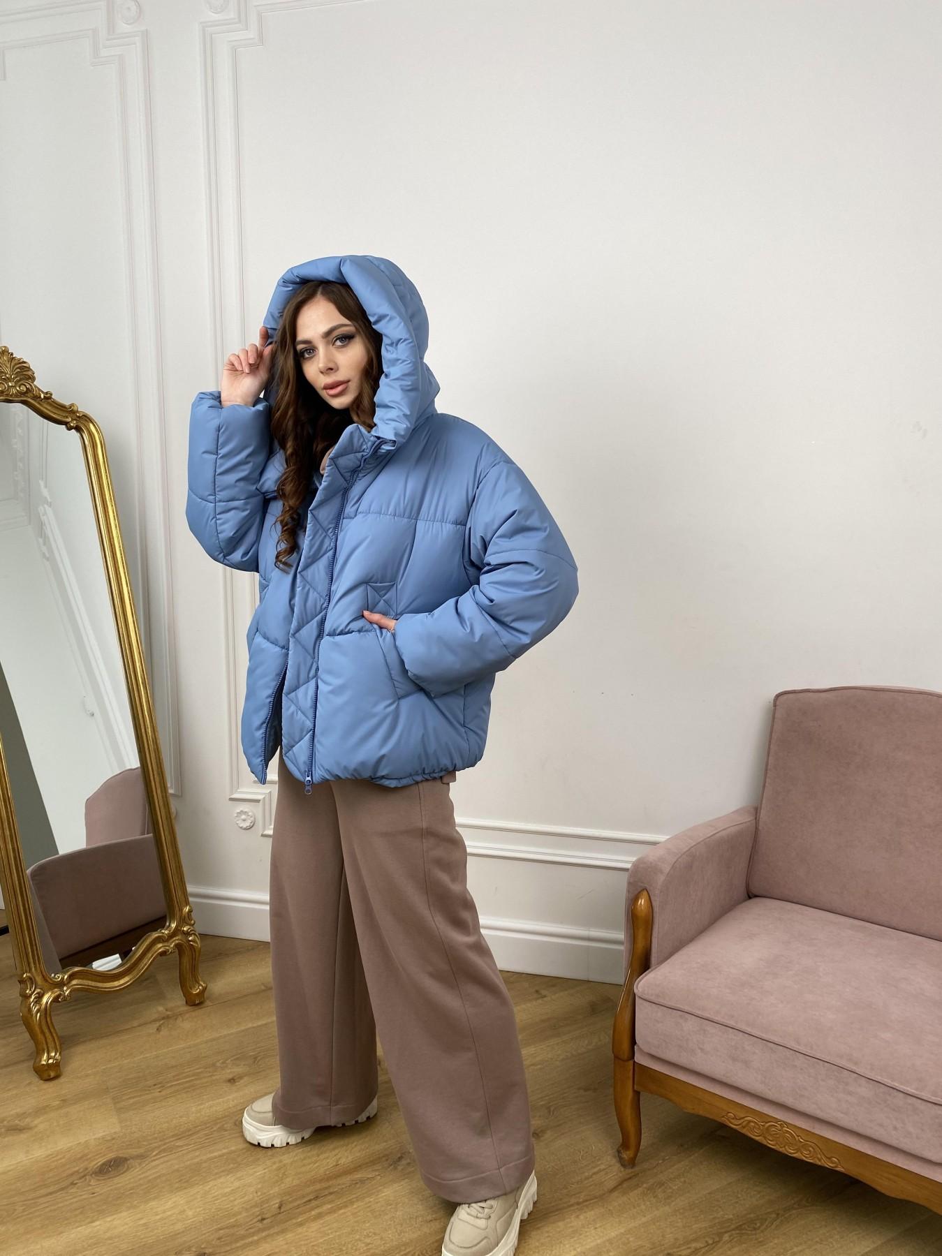 Нокс куртка из плащевой ткани 10535 АРТ. 46971 Цвет: Джинс - фото 2, интернет магазин tm-modus.ru