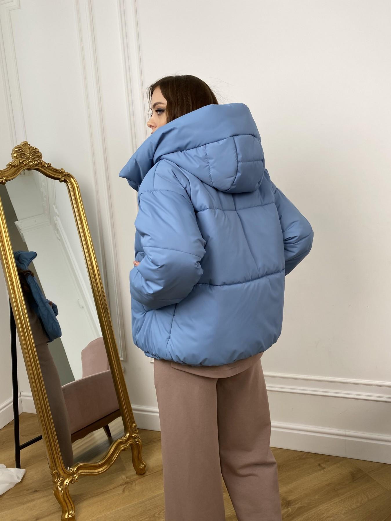 Нокс куртка из плащевой ткани 10535 АРТ. 46971 Цвет: Джинс - фото 4, интернет магазин tm-modus.ru