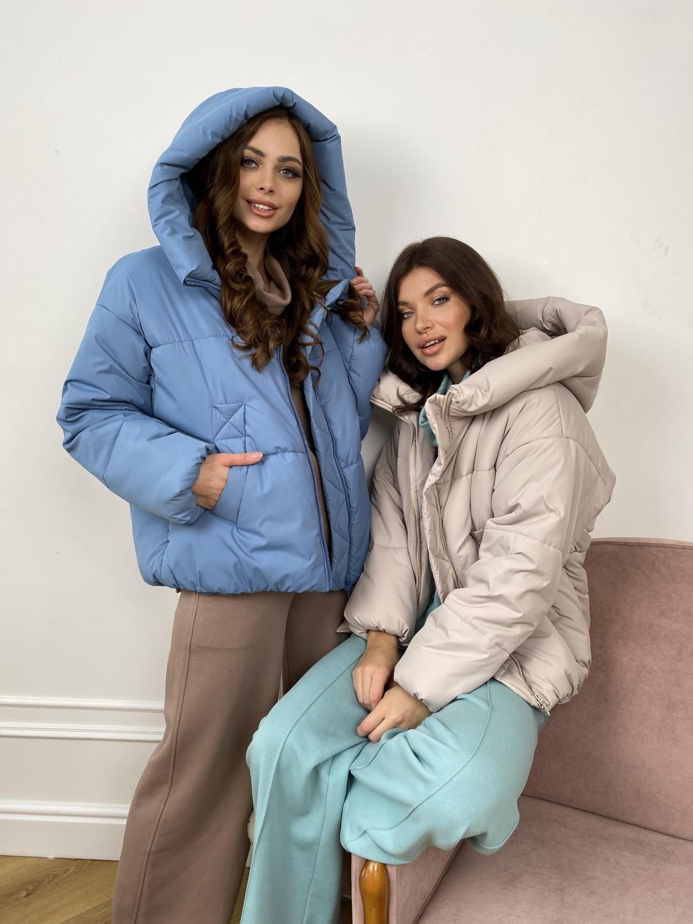 Нокс куртка из плащевой ткани 10535 АРТ. 46971 Цвет: Джинс - фото 7, интернет магазин tm-modus.ru