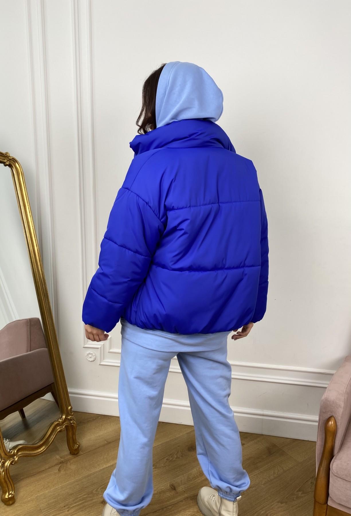 Нокс куртка из плащевой ткани 10535 АРТ. 46881 Цвет: Электрик 1052 - фото 5, интернет магазин tm-modus.ru