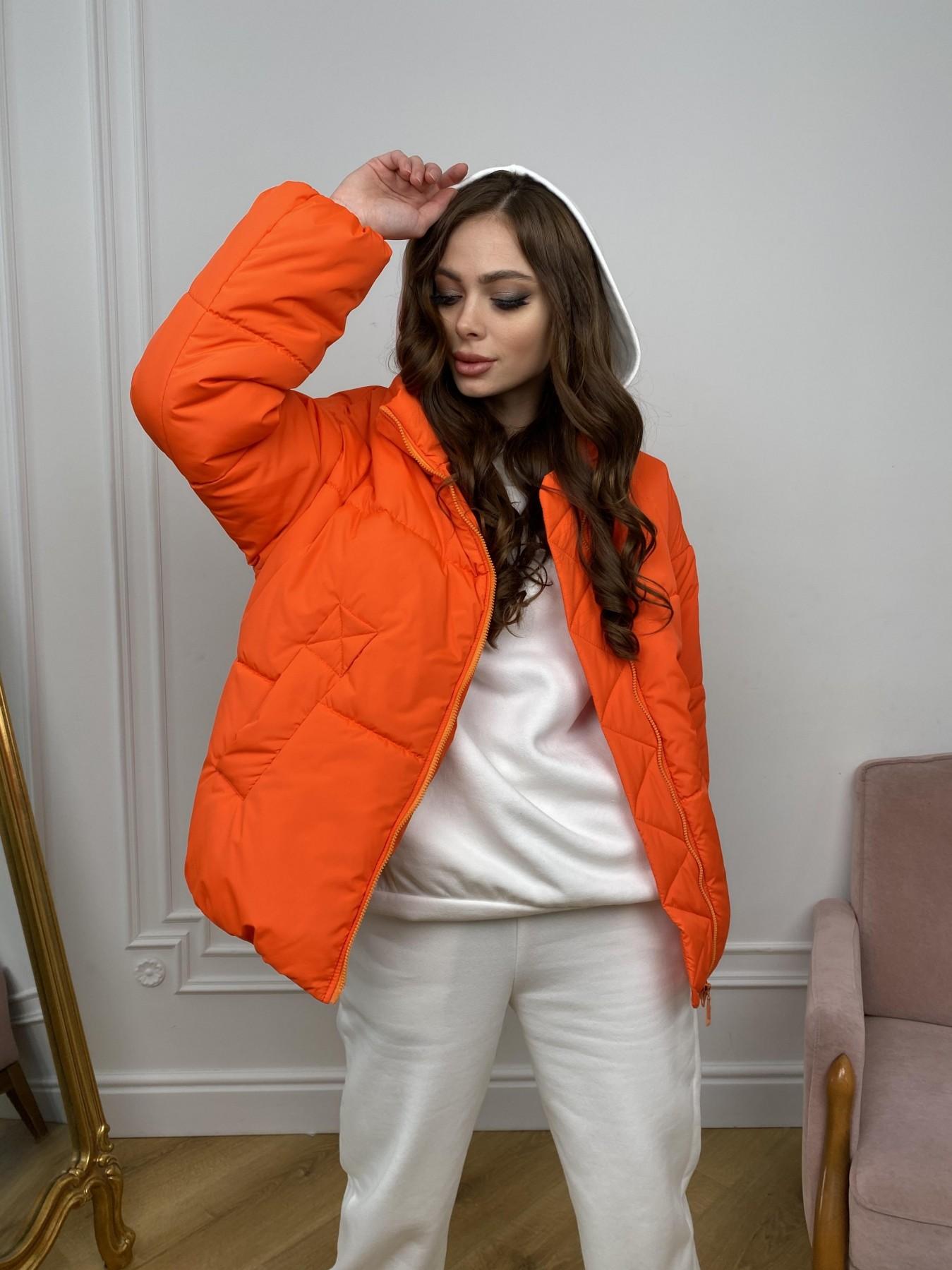 Муд куртка из плащевой ткани 10509 АРТ. 46915 Цвет: Оранжевый 788 - фото 2, интернет магазин tm-modus.ru