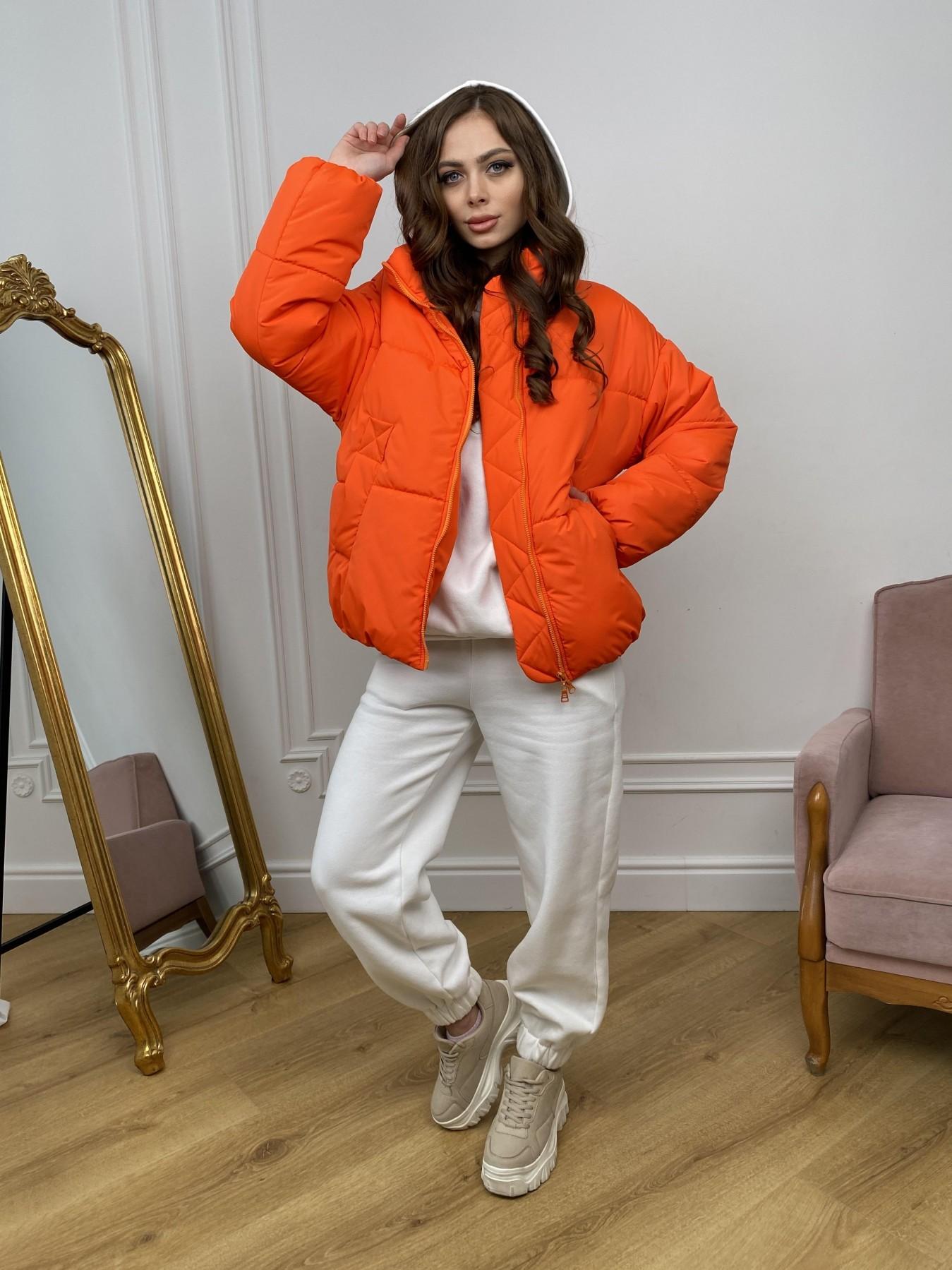 Муд куртка из плащевой ткани 10509 АРТ. 46915 Цвет: Оранжевый 788 - фото 3, интернет магазин tm-modus.ru