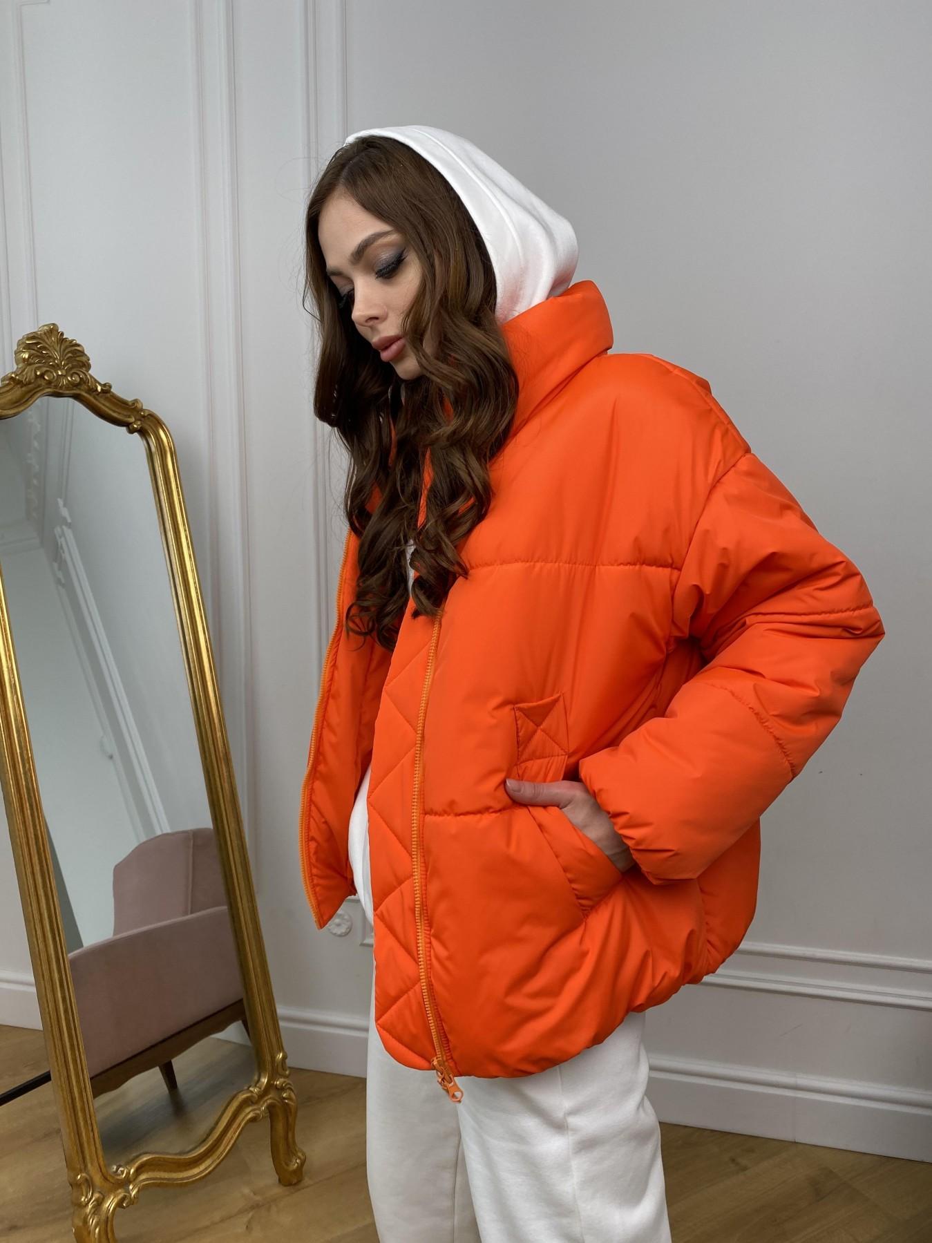 Муд куртка из плащевой ткани 10509 АРТ. 46915 Цвет: Оранжевый 788 - фото 5, интернет магазин tm-modus.ru