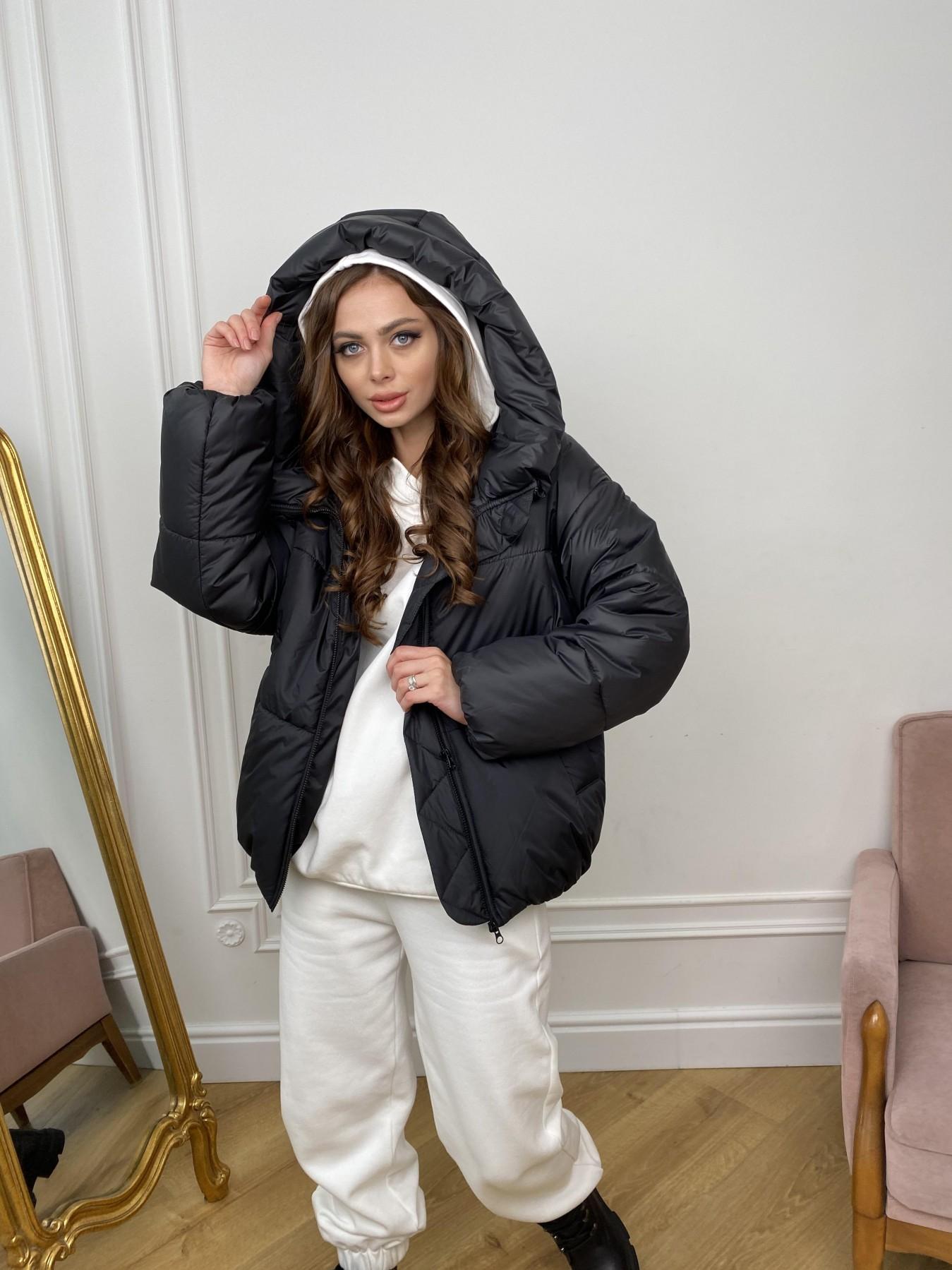 Нокс куртка из плащевой ткани 10535 АРТ. 46975 Цвет: Черный - фото 1, интернет магазин tm-modus.ru