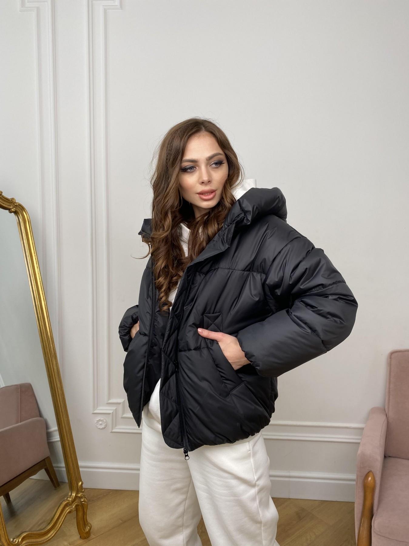 Нокс куртка из плащевой ткани 10535 АРТ. 46975 Цвет: Черный - фото 3, интернет магазин tm-modus.ru