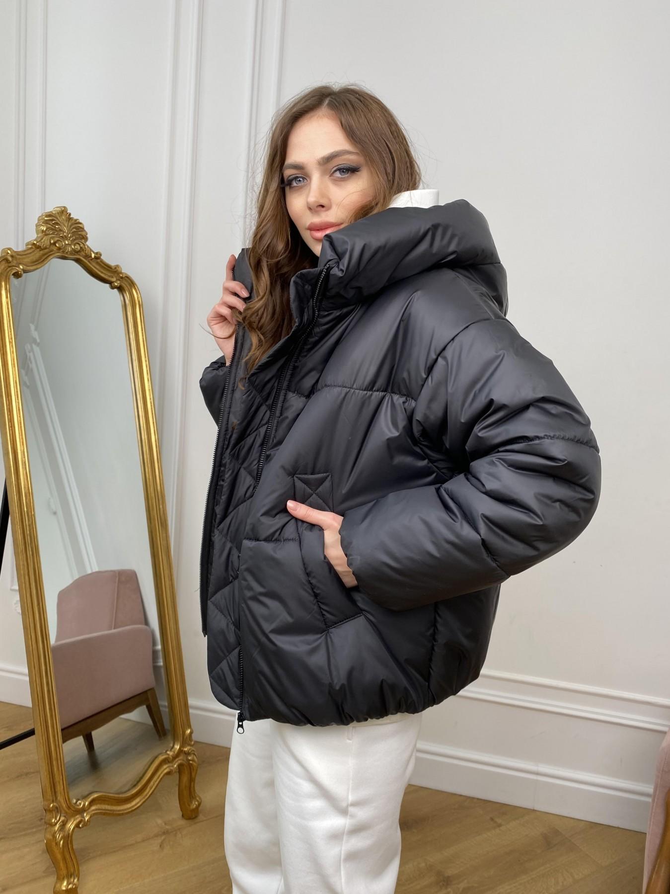 Нокс куртка из плащевой ткани 10535 АРТ. 46975 Цвет: Черный - фото 4, интернет магазин tm-modus.ru