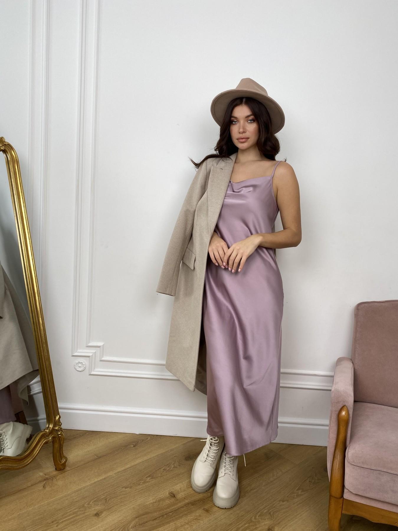 Камая Лайт платье из шелка 10611 АРТ. 46985 Цвет: Пудра - фото 8, интернет магазин tm-modus.ru