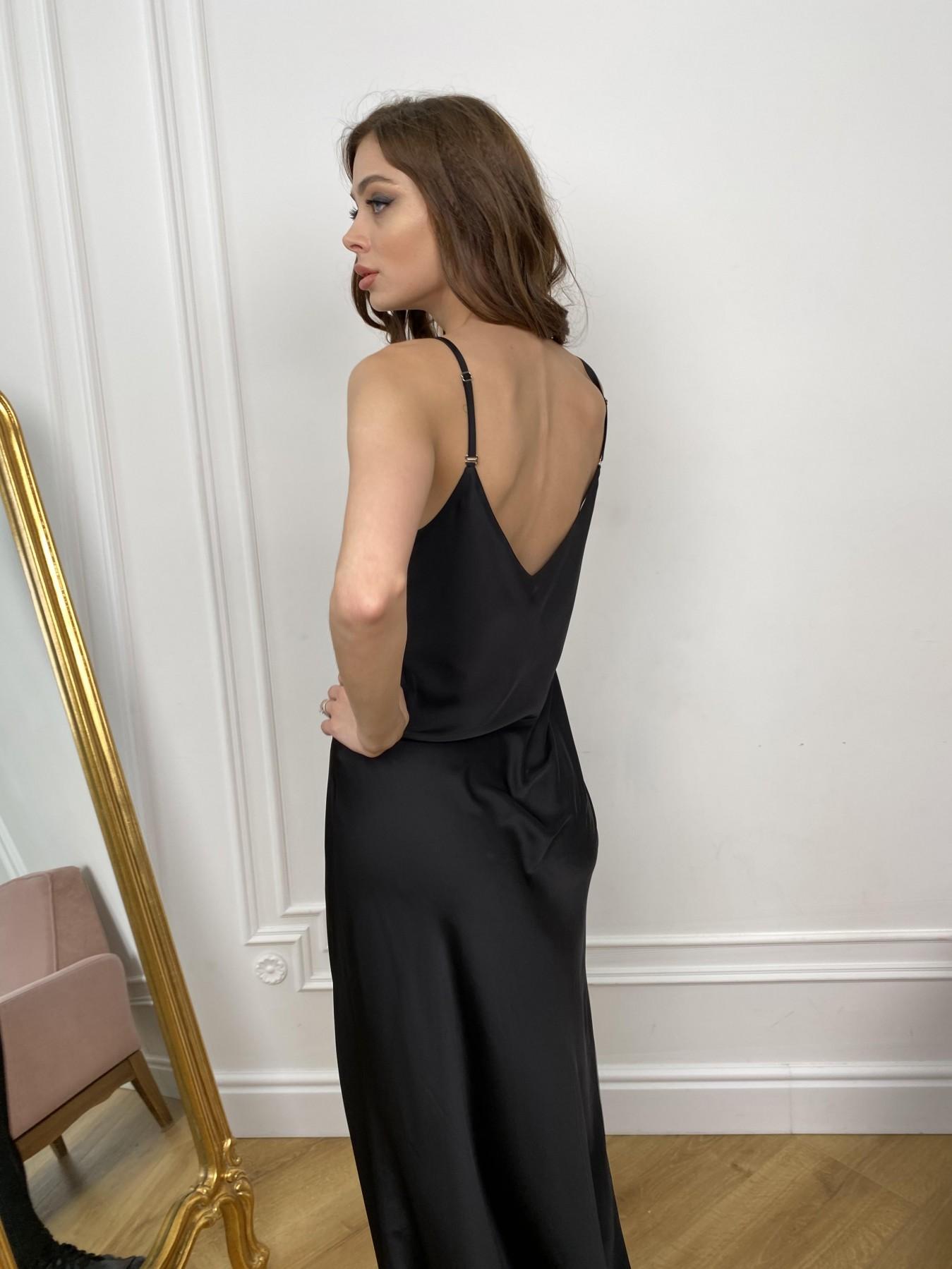 Камая Лайт платье из шелка 10611 АРТ. 46986 Цвет: Черный - фото 6, интернет магазин tm-modus.ru