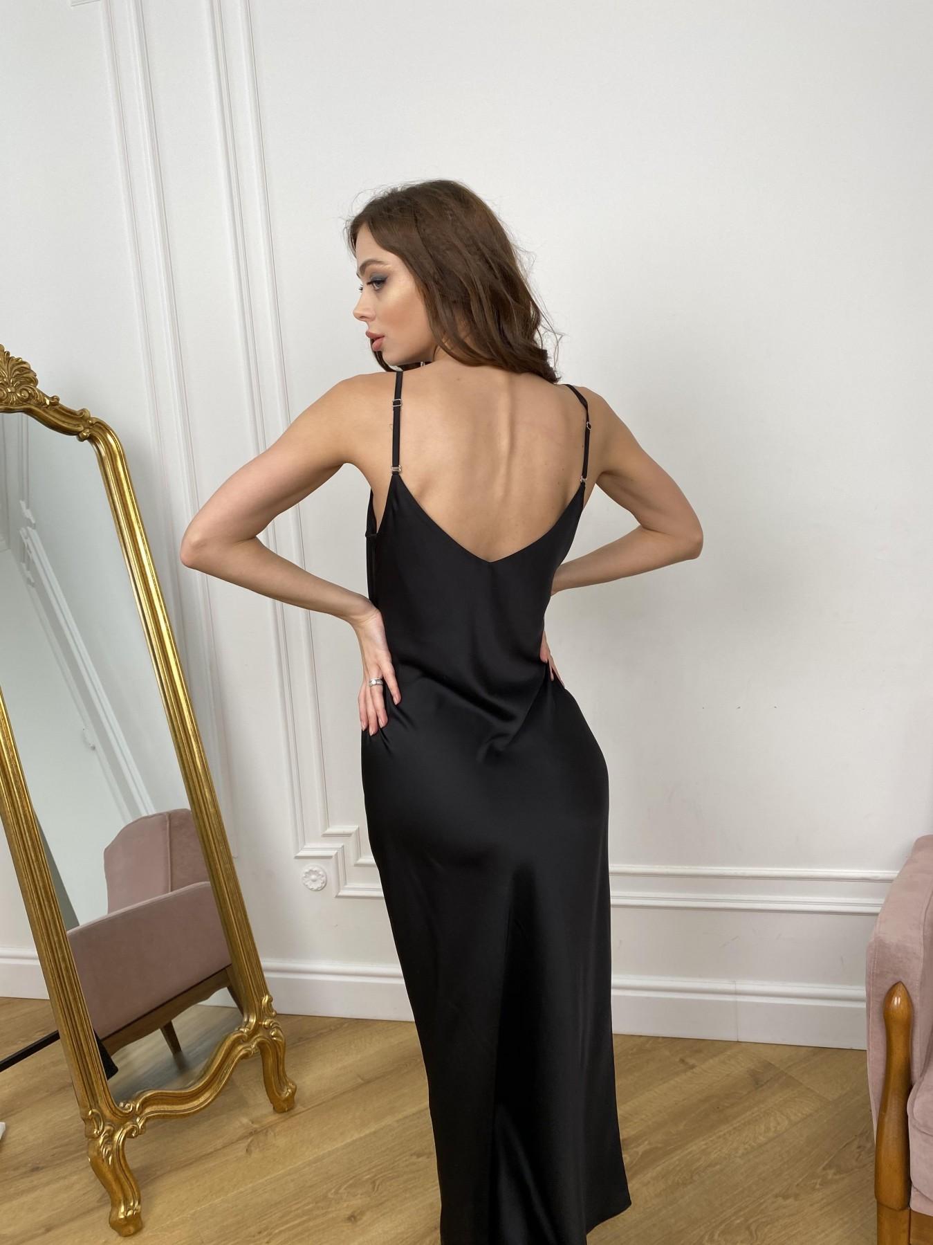 Камая Лайт платье из шелка 10611 АРТ. 46986 Цвет: Черный - фото 8, интернет магазин tm-modus.ru