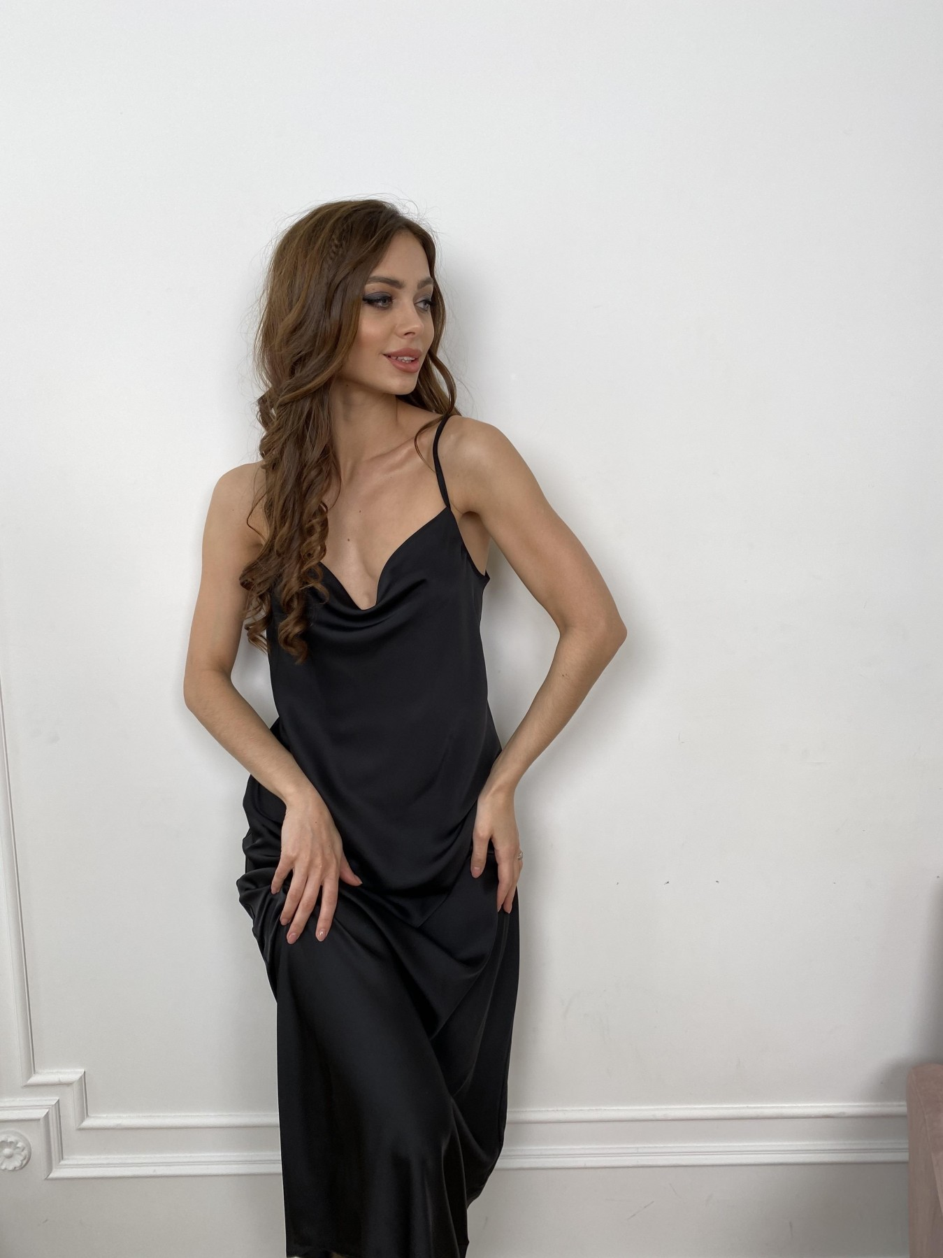 Камая Лайт платье из шелка 10611 АРТ. 46986 Цвет: Черный - фото 9, интернет магазин tm-modus.ru