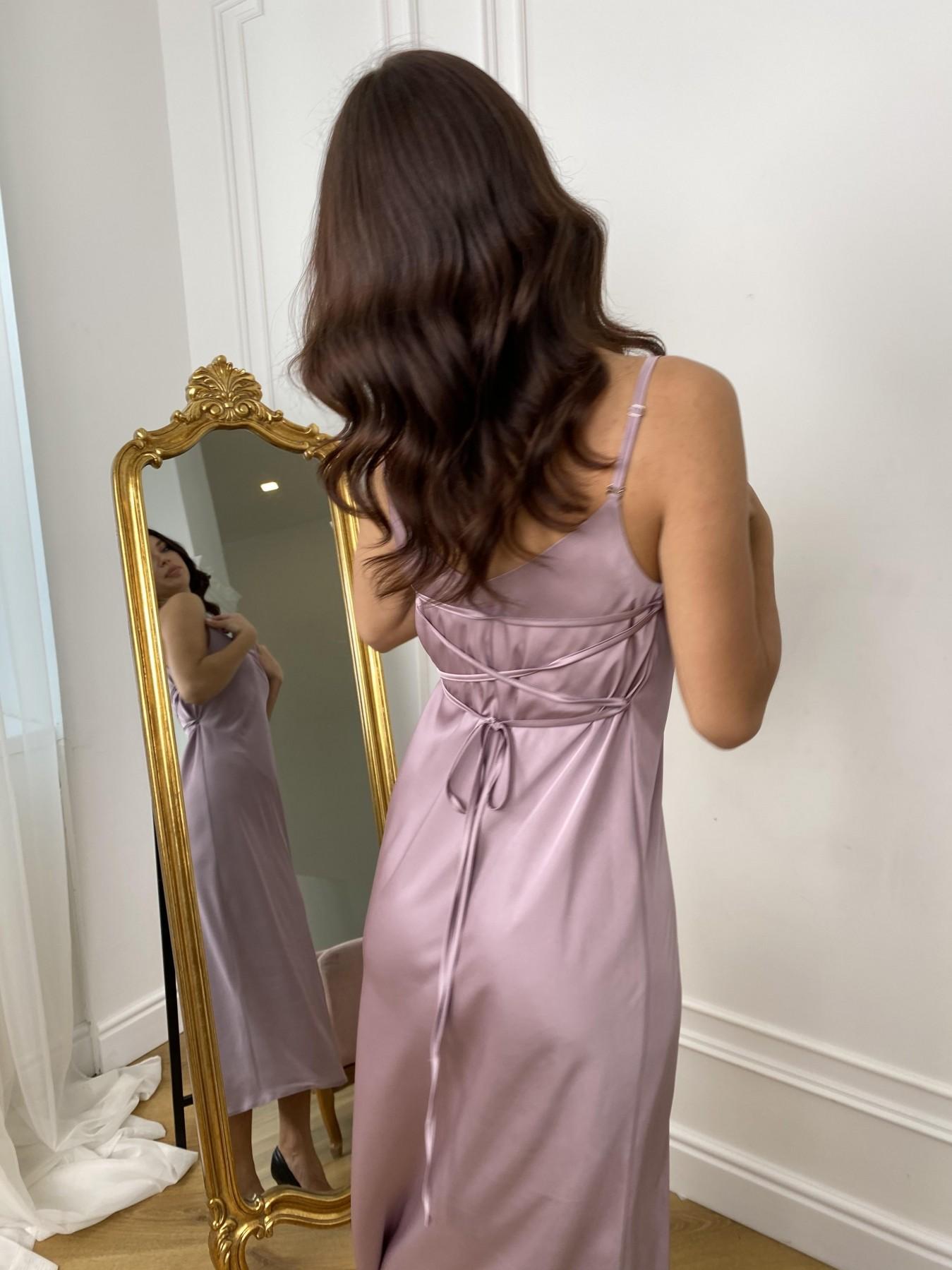 Камая Шелк платье 10605 АРТ. 46970 Цвет: Пудра - фото 3, интернет магазин tm-modus.ru