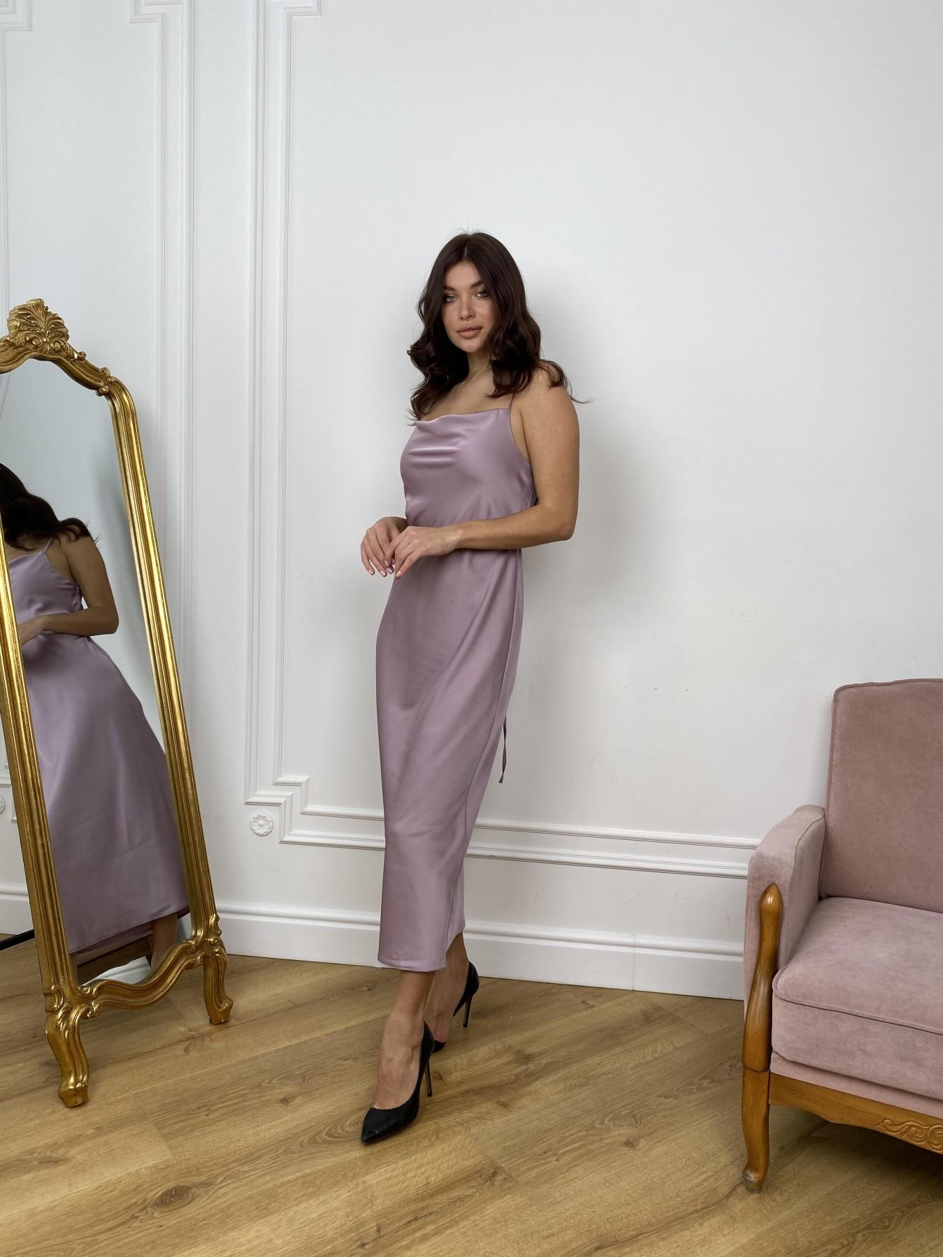 Камая Шелк платье 10605 АРТ. 46970 Цвет: Пудра - фото 4, интернет магазин tm-modus.ru