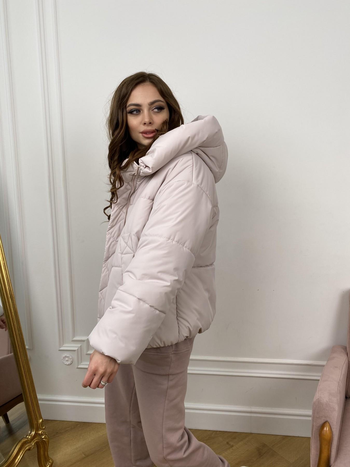 Нокс куртка из плащевой ткани 10535 АРТ. 46973 Цвет: Молоко 970 - фото 3, интернет магазин tm-modus.ru