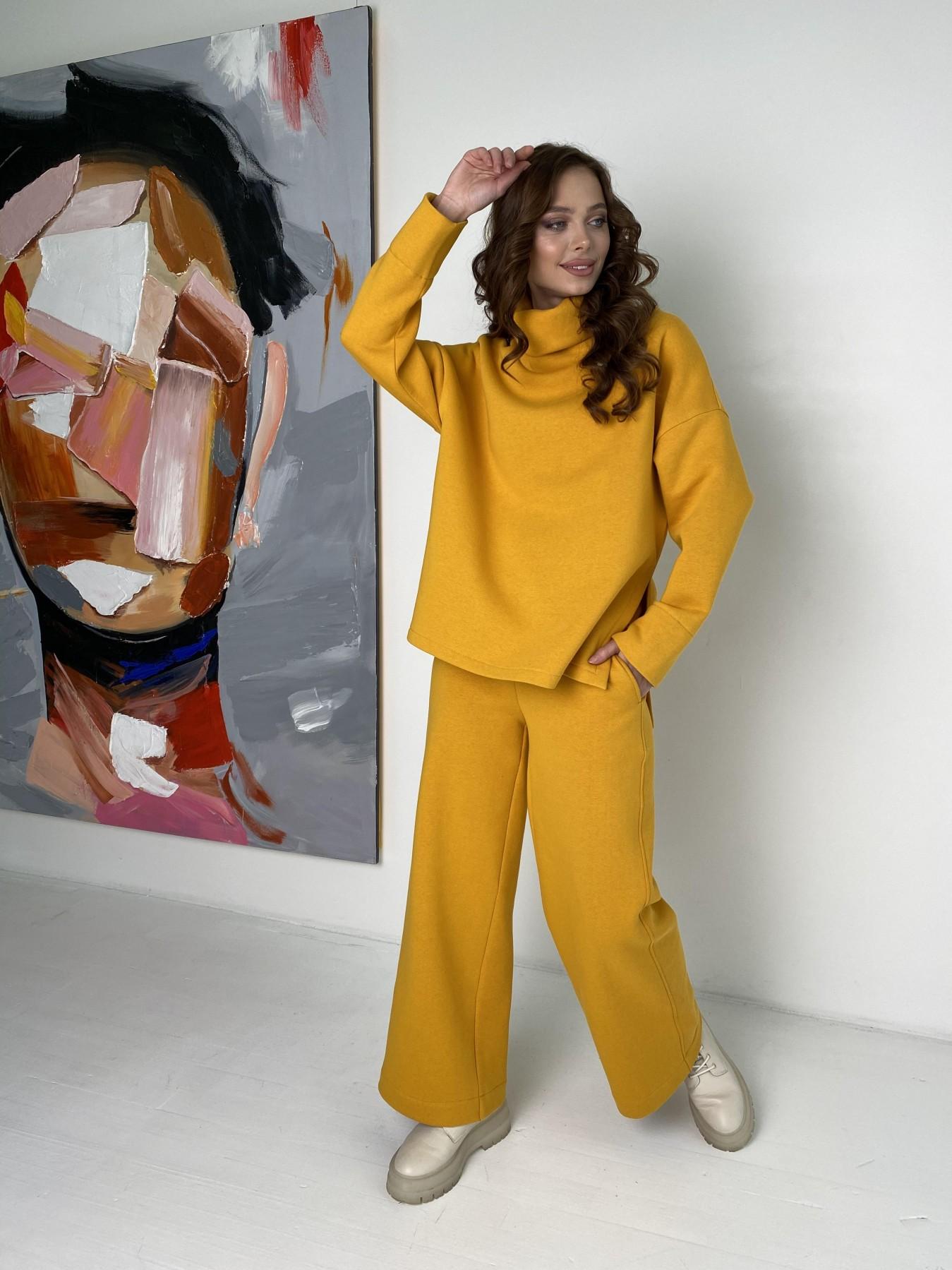 Джаст костюм на флисе 3х нитка 10513 АРТ. 47077 Цвет: Горчица - фото 8, интернет магазин tm-modus.ru