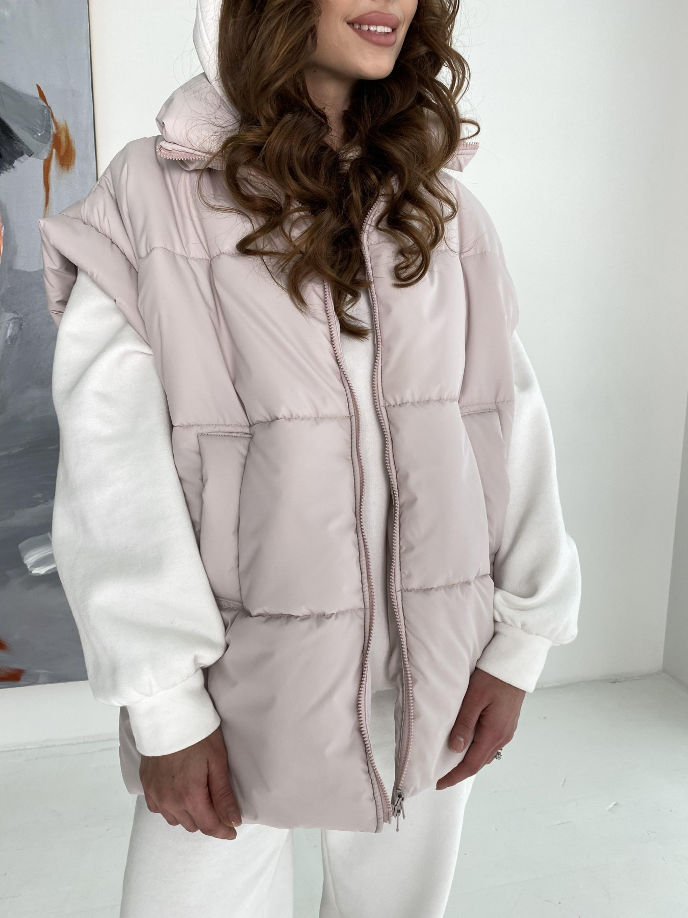 Нюрнберг жилет из плащевой ткани  10598 АРТ. 47044 Цвет: Молоко 970 - фото 5, интернет магазин tm-modus.ru