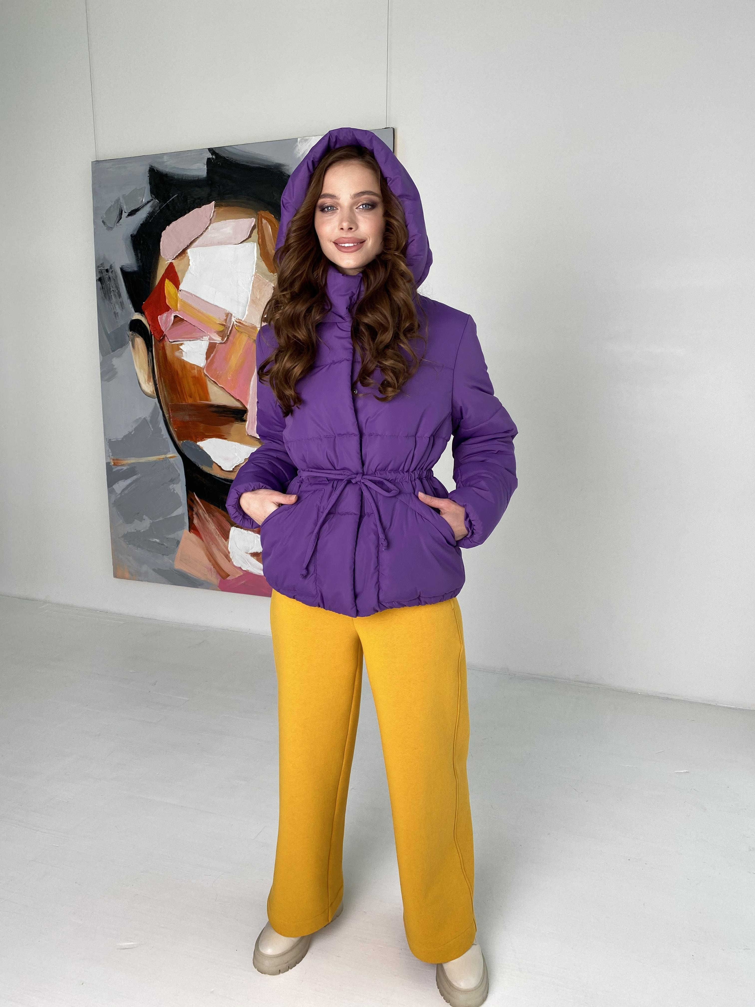 Пино куртка из плащевой ткани 10489 АРТ. 46804 Цвет: Сиреневый - фото 3, интернет магазин tm-modus.ru