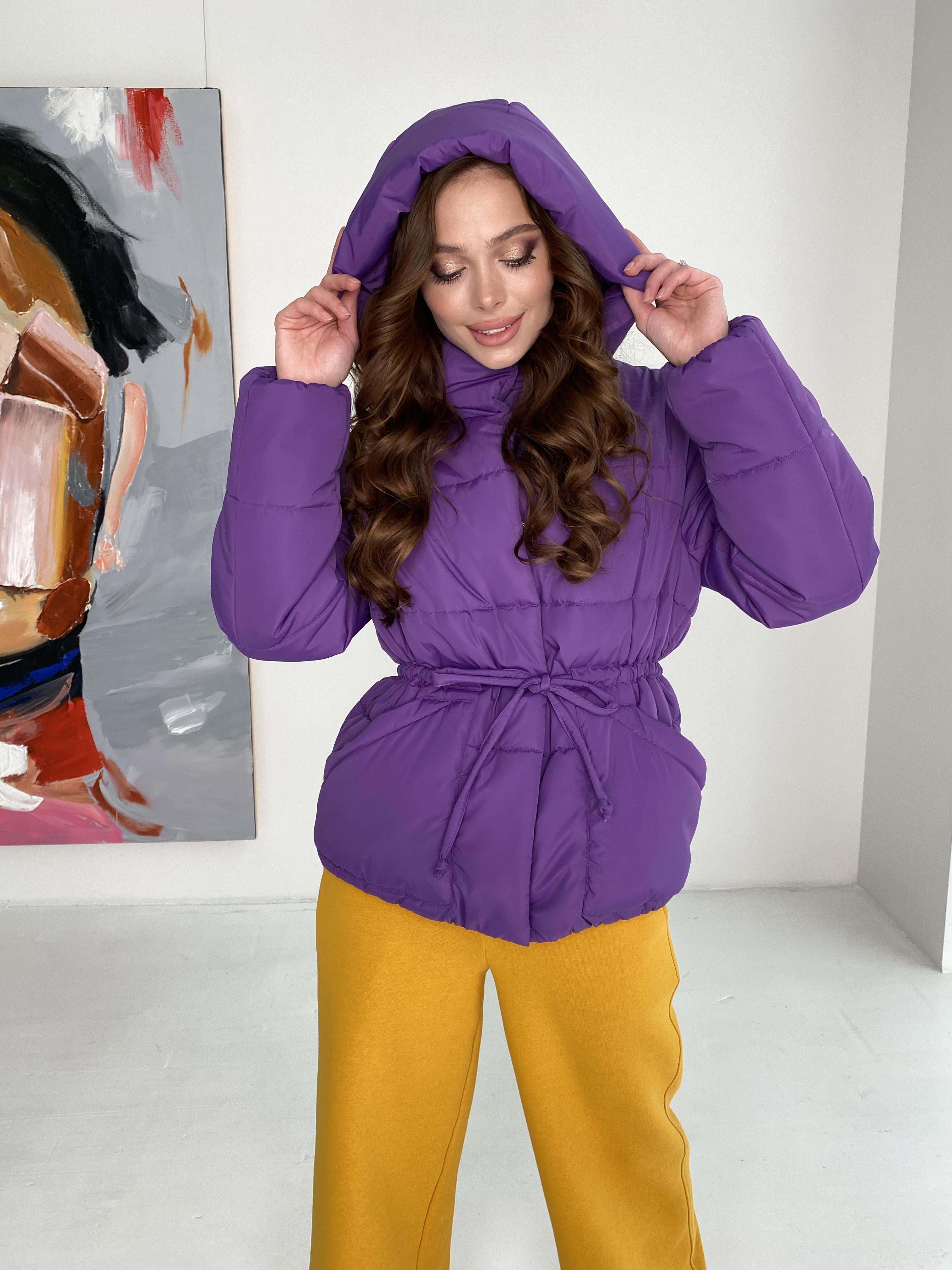 Пино куртка из плащевой ткани 10489 АРТ. 46804 Цвет: Сиреневый - фото 4, интернет магазин tm-modus.ru