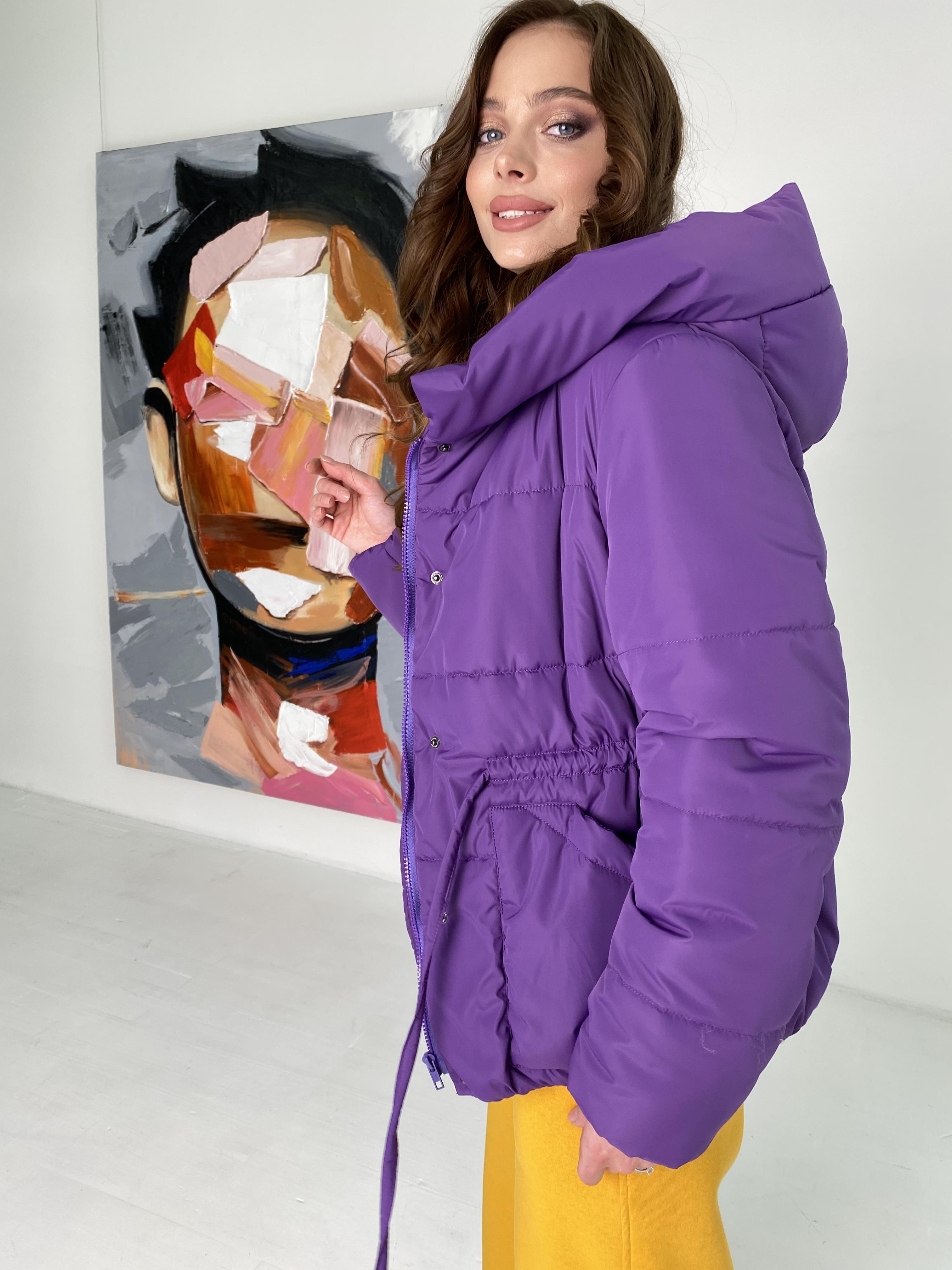 Пино куртка из плащевой ткани 10489 АРТ. 46804 Цвет: Сиреневый - фото 6, интернет магазин tm-modus.ru