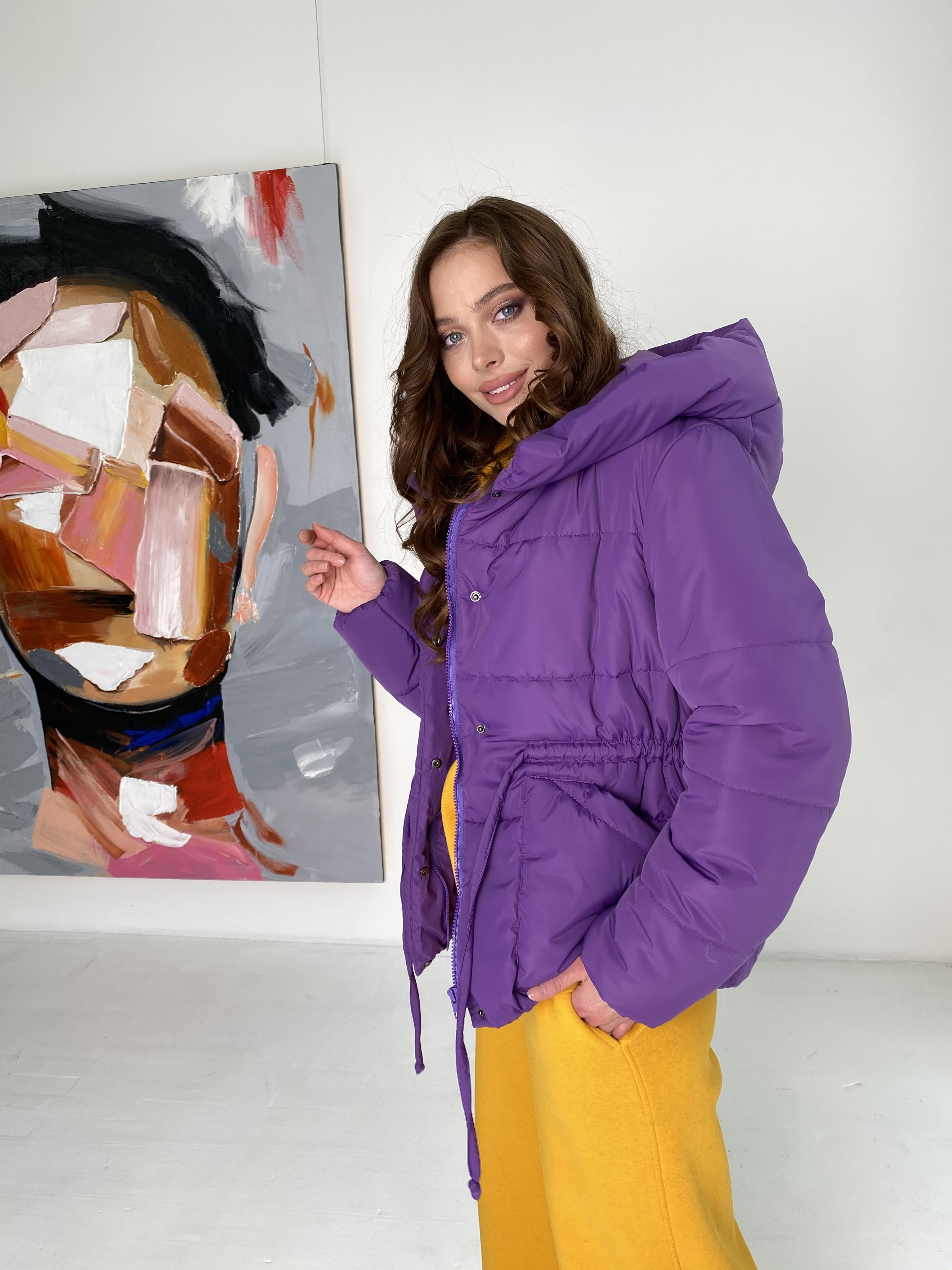 Пино куртка из плащевой ткани 10489 АРТ. 46804 Цвет: Сиреневый - фото 9, интернет магазин tm-modus.ru