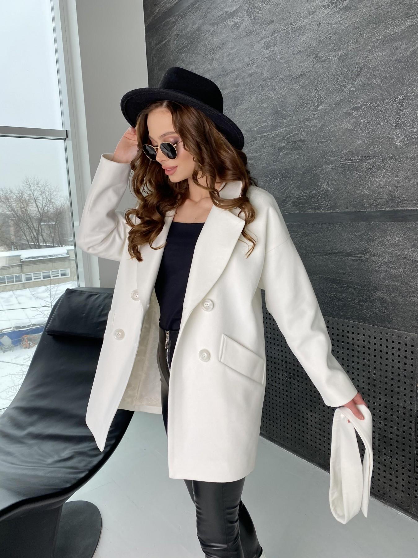 Бонд пальто из кашемира 10646 АРТ. 47011 Цвет: Молоко - фото 2, интернет магазин tm-modus.ru