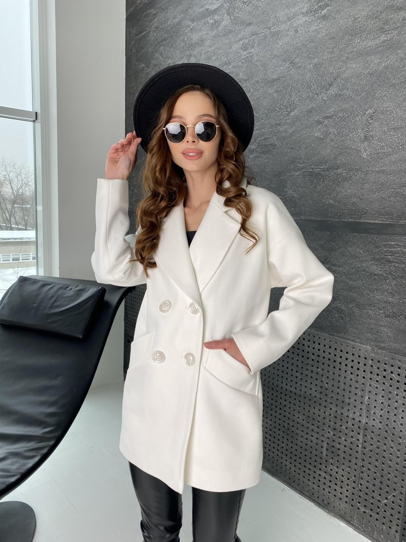 Бонд пальто из кашемира 10646 АРТ. 47011 Цвет: Молоко - фото 3, интернет магазин tm-modus.ru