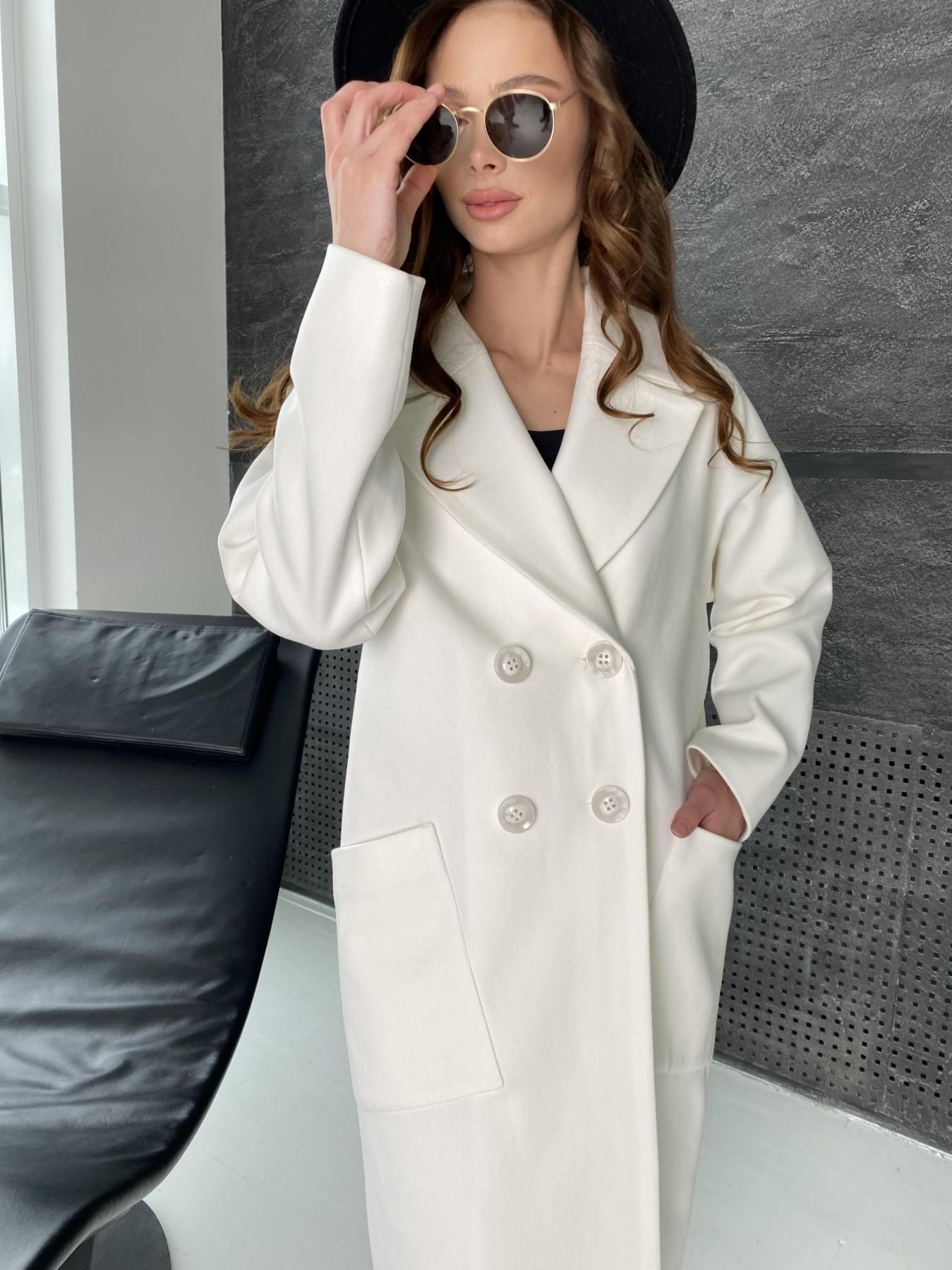 Свайп макси пальто из кашемира 10617 АРТ. 46996 Цвет: Молоко - фото 4, интернет магазин tm-modus.ru