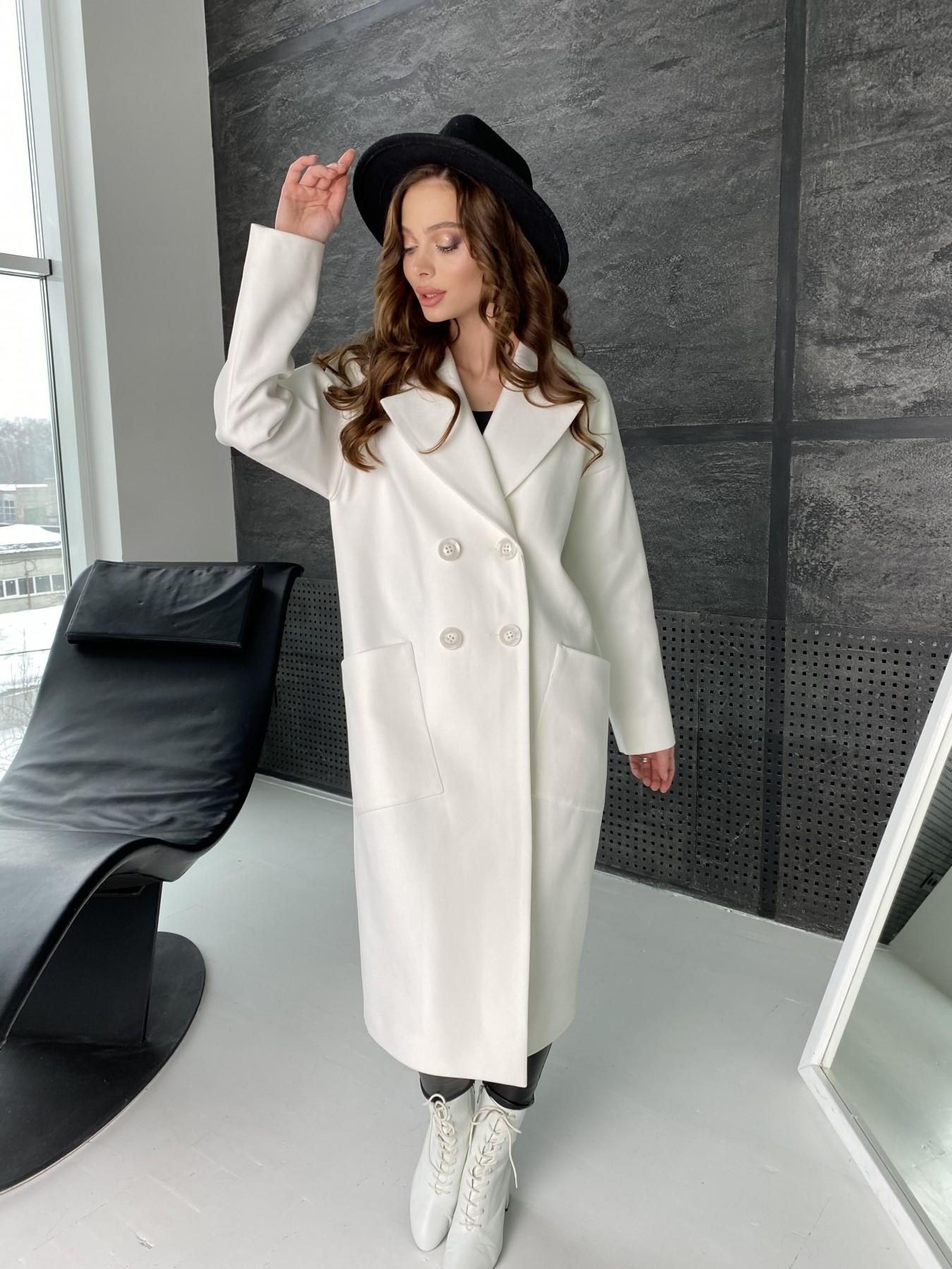 Свайп макси пальто из кашемира 10617 АРТ. 46996 Цвет: Молоко - фото 5, интернет магазин tm-modus.ru