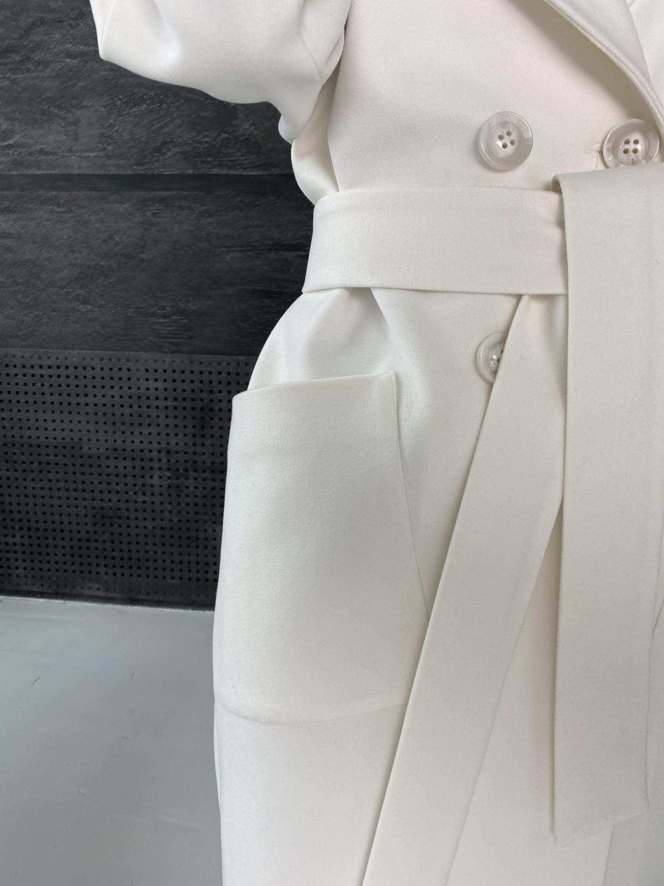 Свайп макси пальто из кашемира 10617 АРТ. 46996 Цвет: Молоко - фото 6, интернет магазин tm-modus.ru