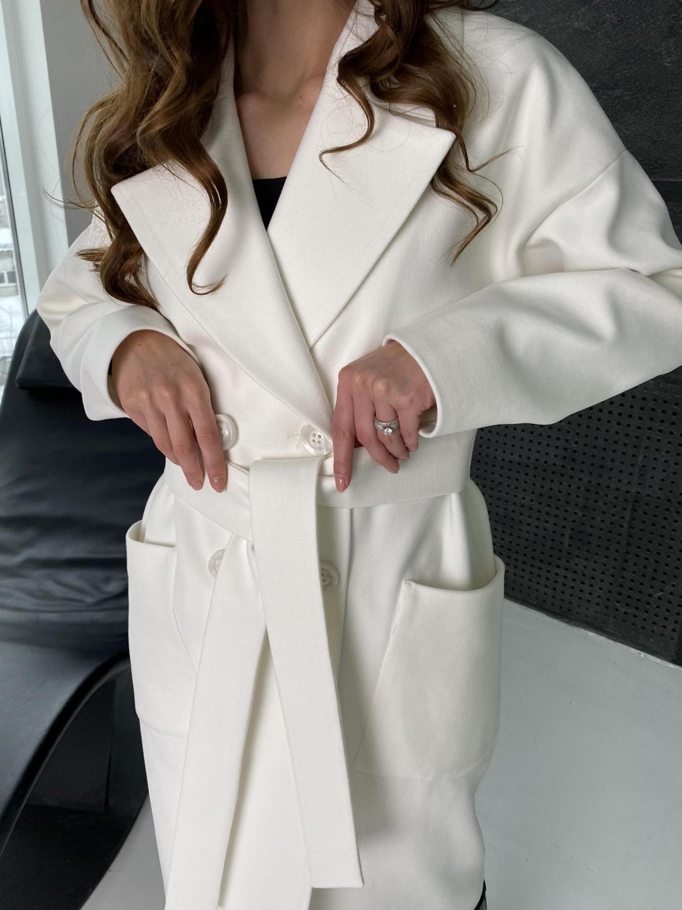 Свайп макси пальто из кашемира 10617 АРТ. 46996 Цвет: Молоко - фото 8, интернет магазин tm-modus.ru