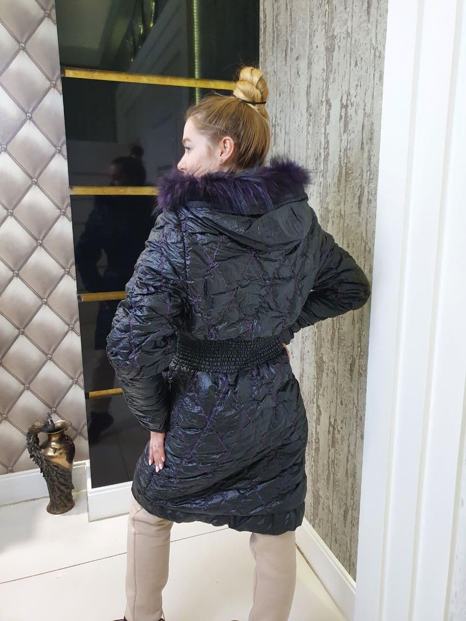 Пальто Зимнее Вышивка 10706 АРТ. 47129 Цвет: Черный - фото 2, интернет магазин tm-modus.ru