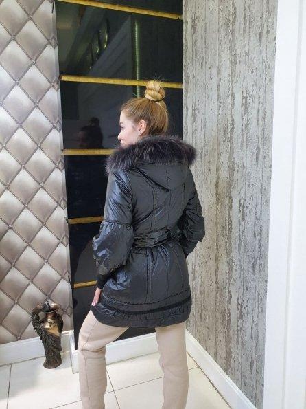 Купить Камелия Енот плащевка пальто Зима 10694 оптом и в розницу