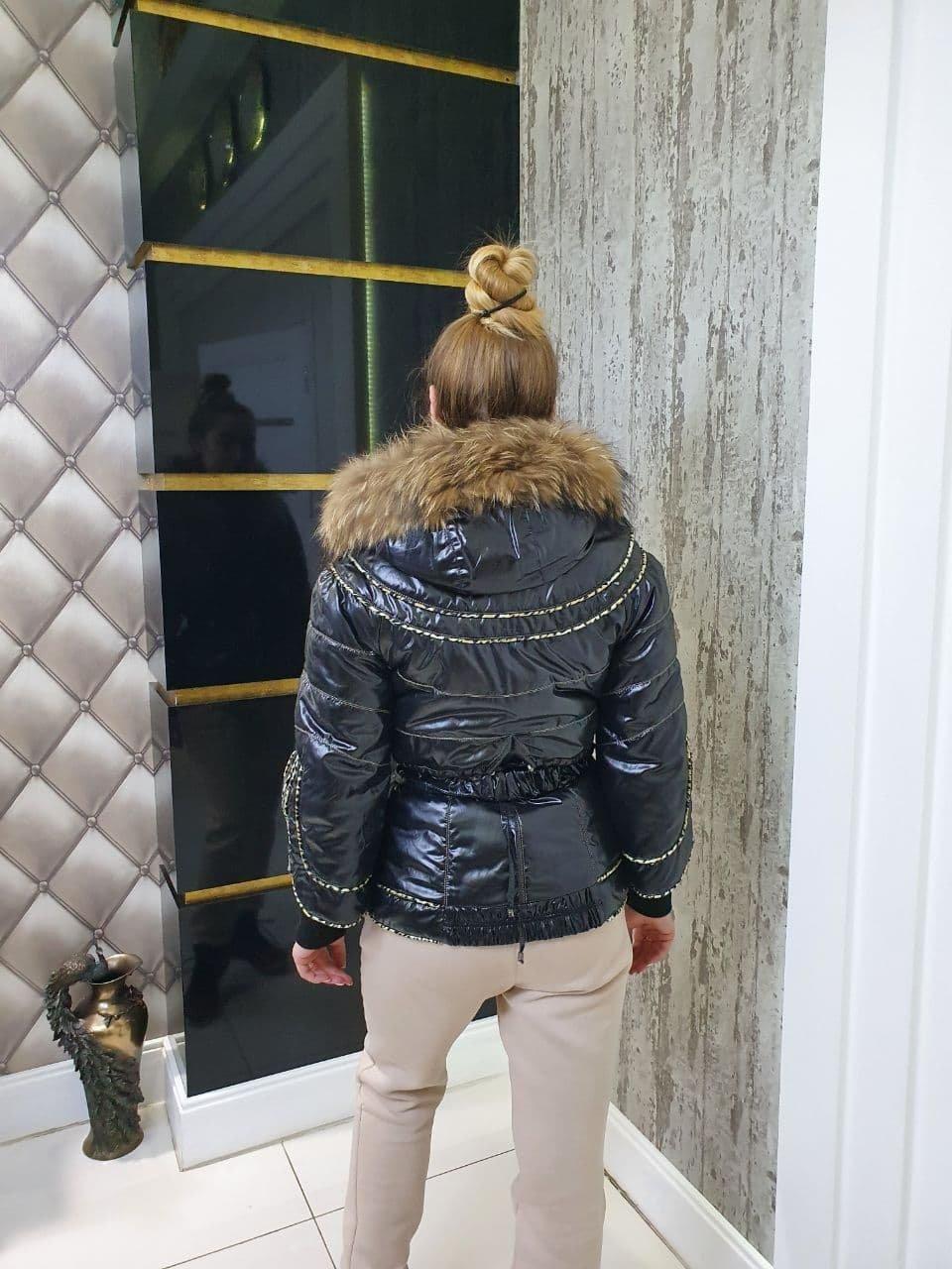 Куртка Зимняя Эверест Енот 10709 АРТ. 47132 Цвет: Черный - фото 2, интернет магазин tm-modus.ru