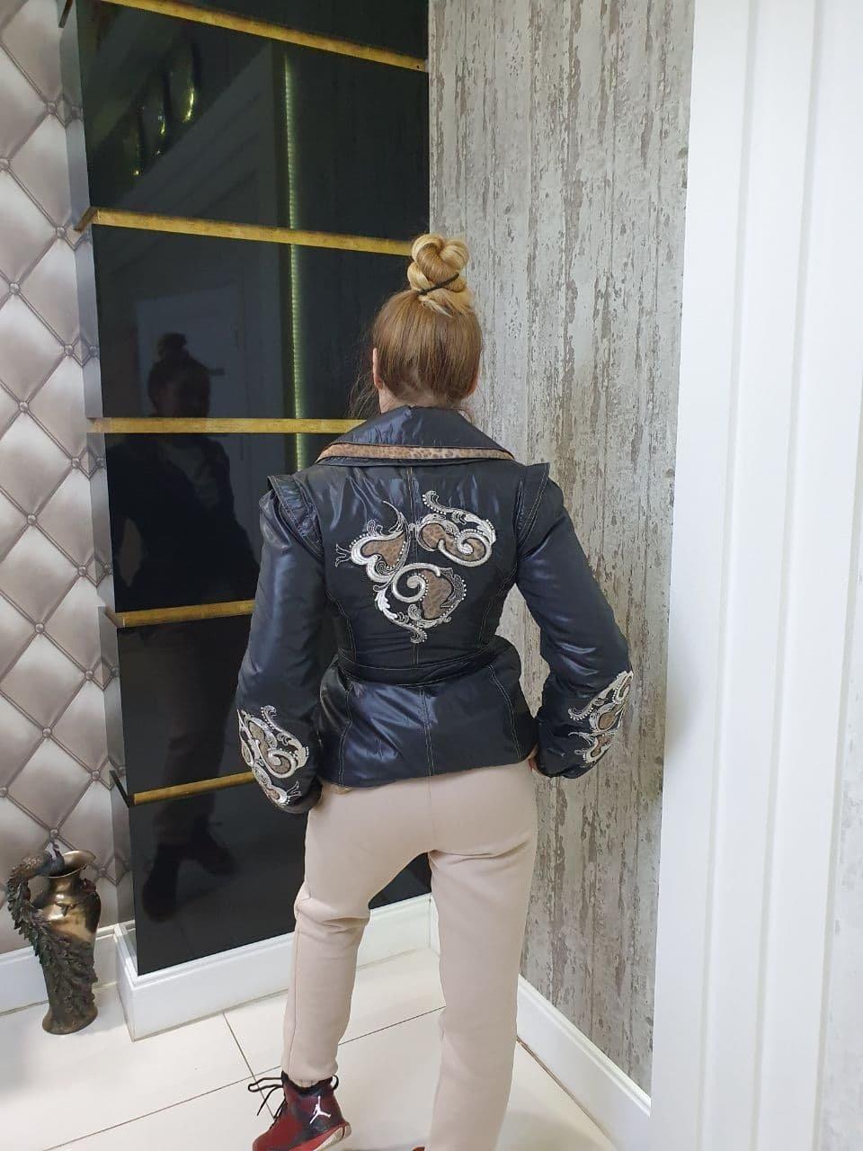 Куртка Весна Белис 10725 АРТ. 47151 Цвет: Черный - фото 2, интернет магазин tm-modus.ru