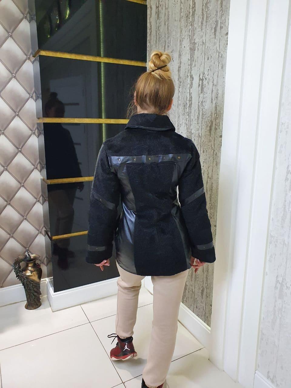 Куртка Весна Марго 10726 АРТ. 47152 Цвет: Черный - фото 2, интернет магазин tm-modus.ru