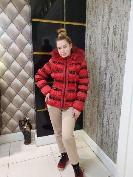 Купить Пайетка Енот плащевка куртка Зима 10710 оптом и в розницу