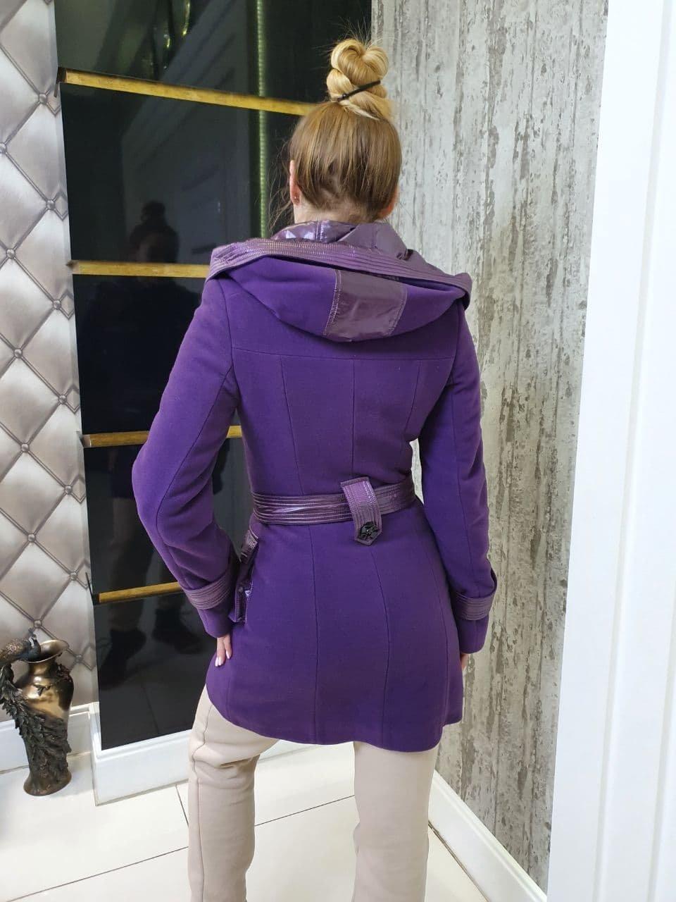 Пальто Зимнее Клапан 10717 АРТ. 47141 Цвет: Фиолетовый - фото 2, интернет магазин tm-modus.ru